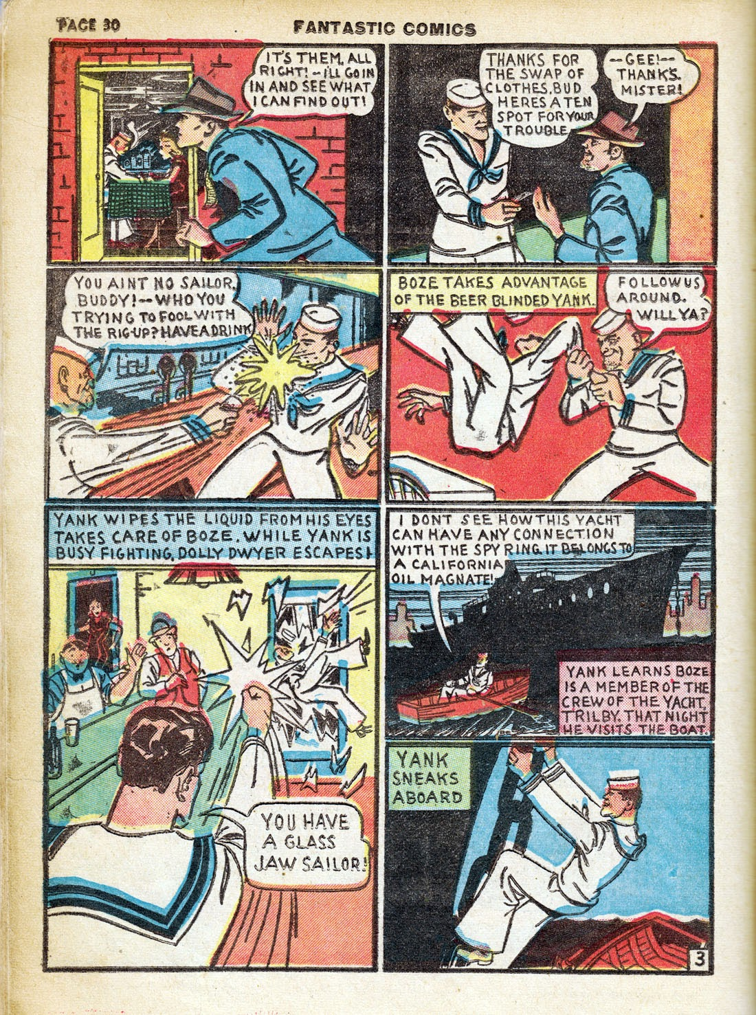 Read online Fantastic Comics comic -  Issue #7 - 32