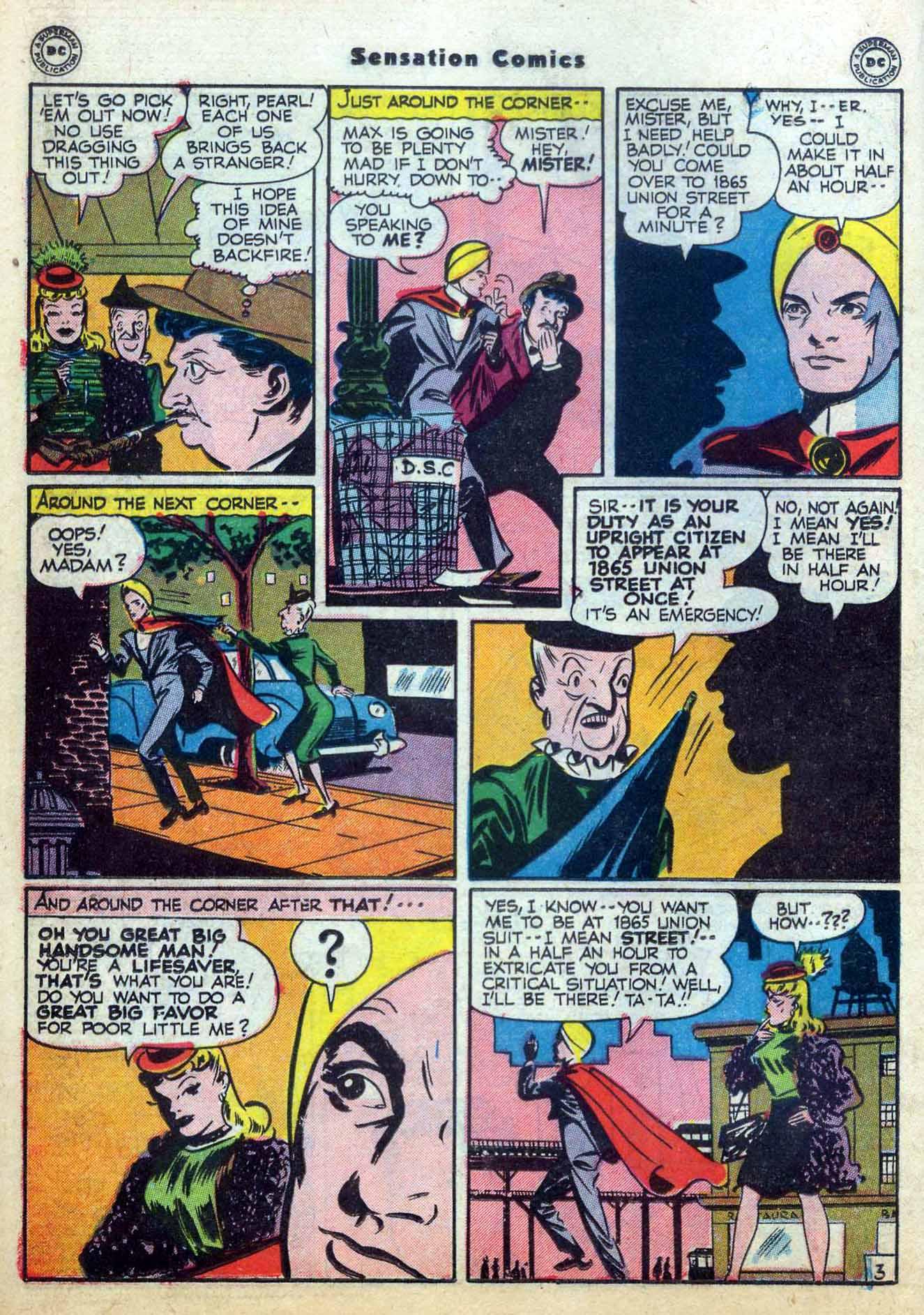 Read online Sensation (Mystery) Comics comic -  Issue #59 - 26