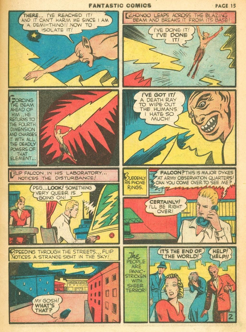 Read online Fantastic Comics comic -  Issue #12 - 17