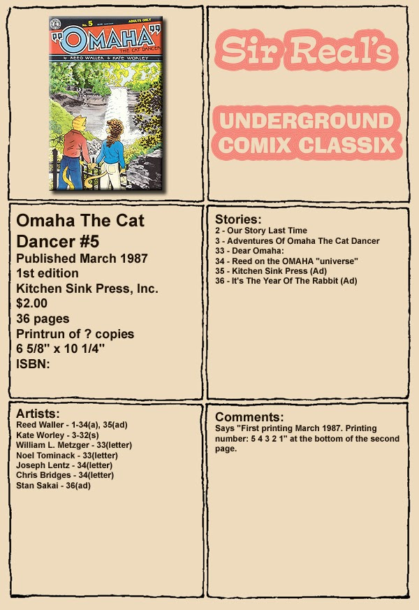 Omaha the Cat Dancer (1986) 5 Page 1
