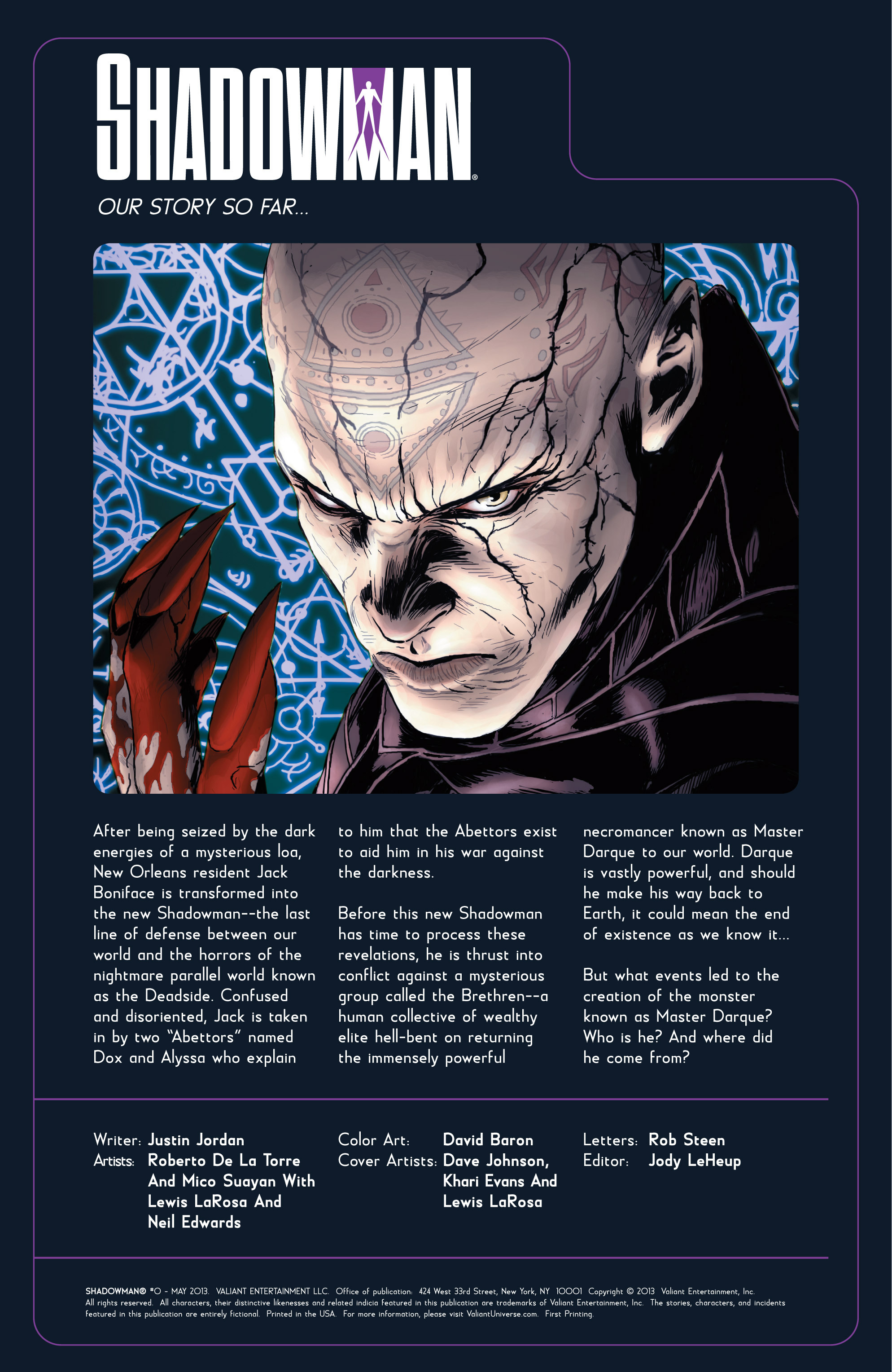 Read online Shadowman (2012) comic -  Issue #0 - 3