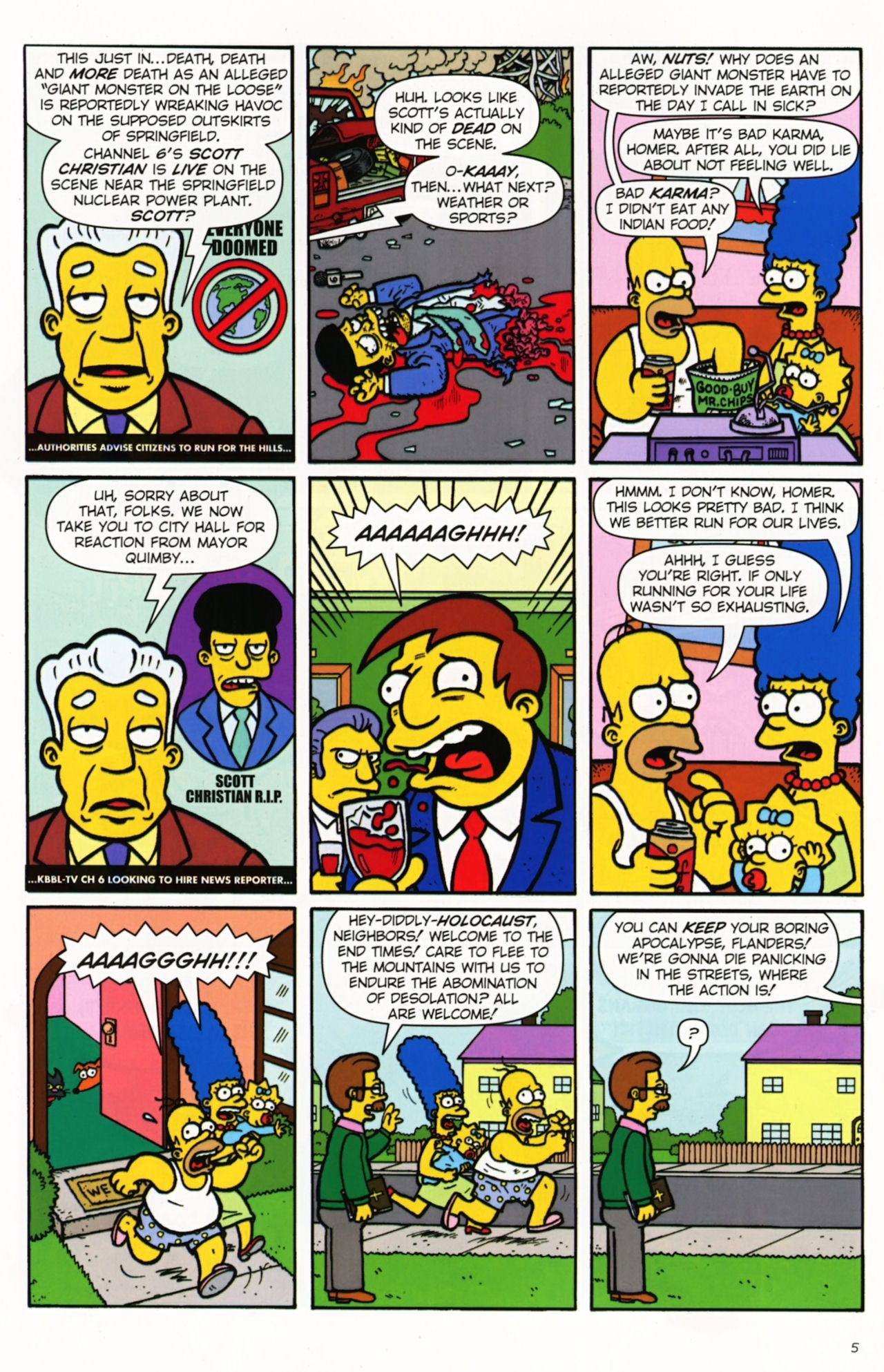 Read online Treehouse of Horror comic -  Issue #16 - 8