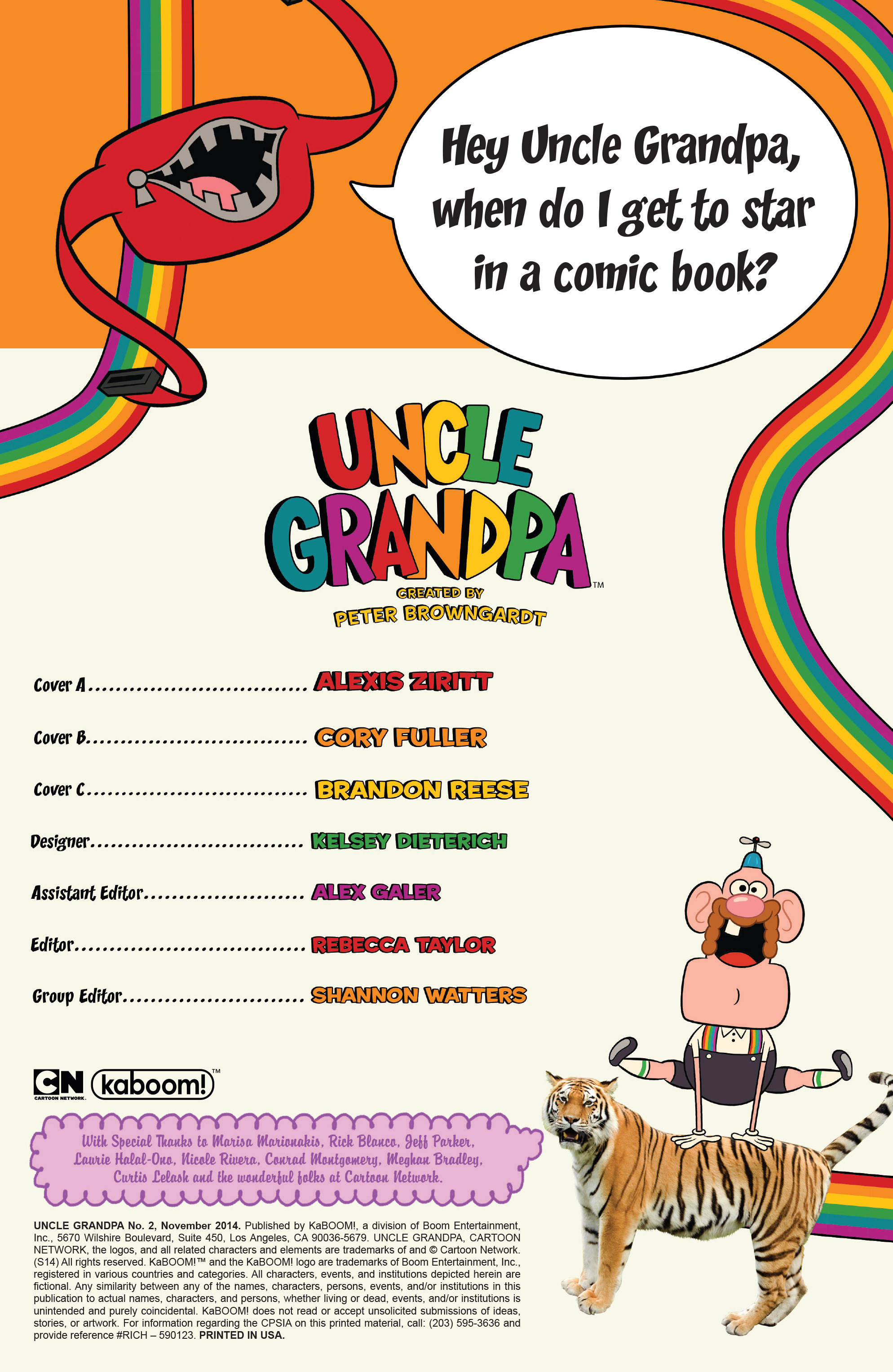 Read online Uncle Grandpa comic -  Issue #2 - 2