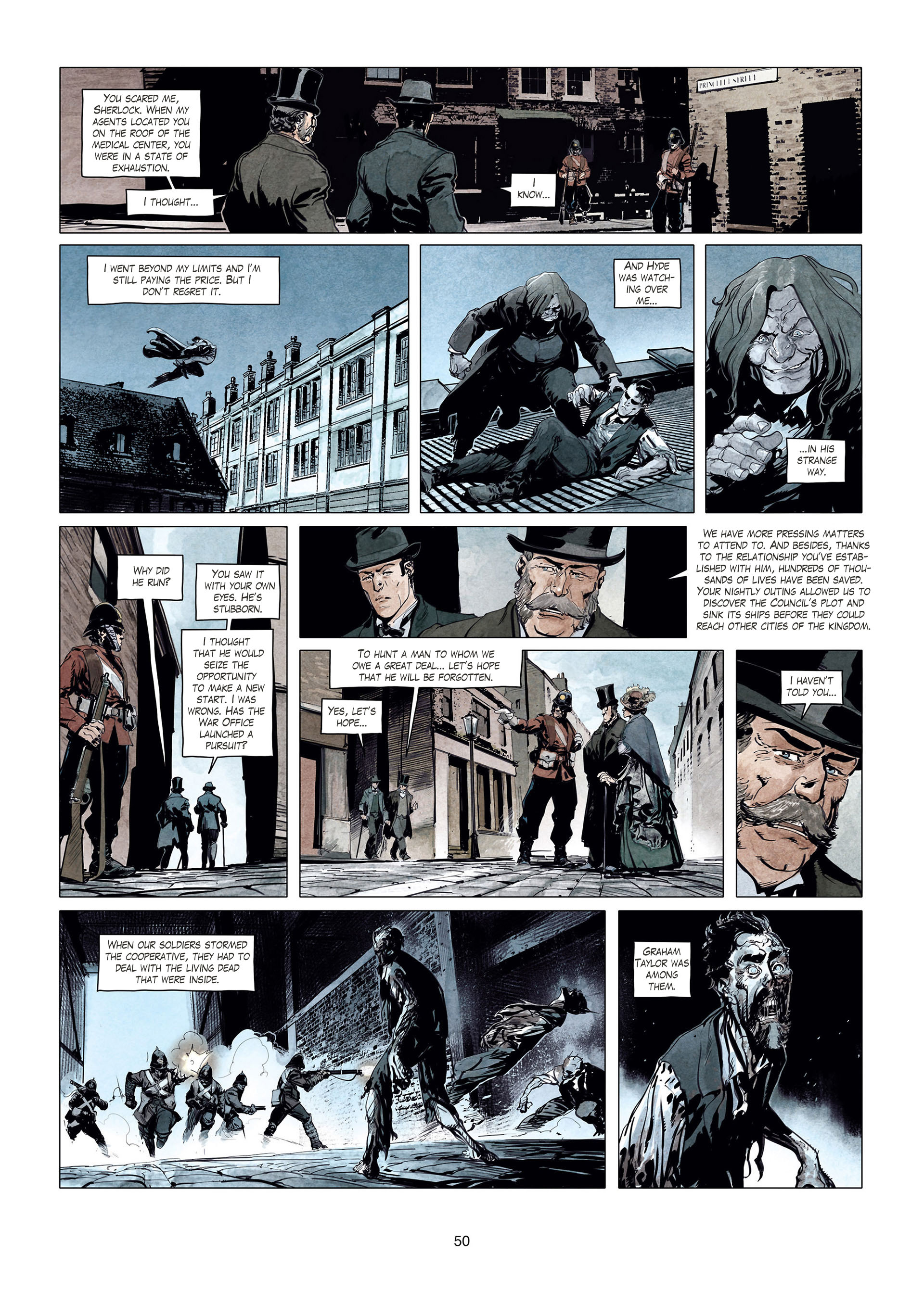 Read online Sherlock Holmes Society Tome 4 : Contamination comic -  Issue # Full - 50