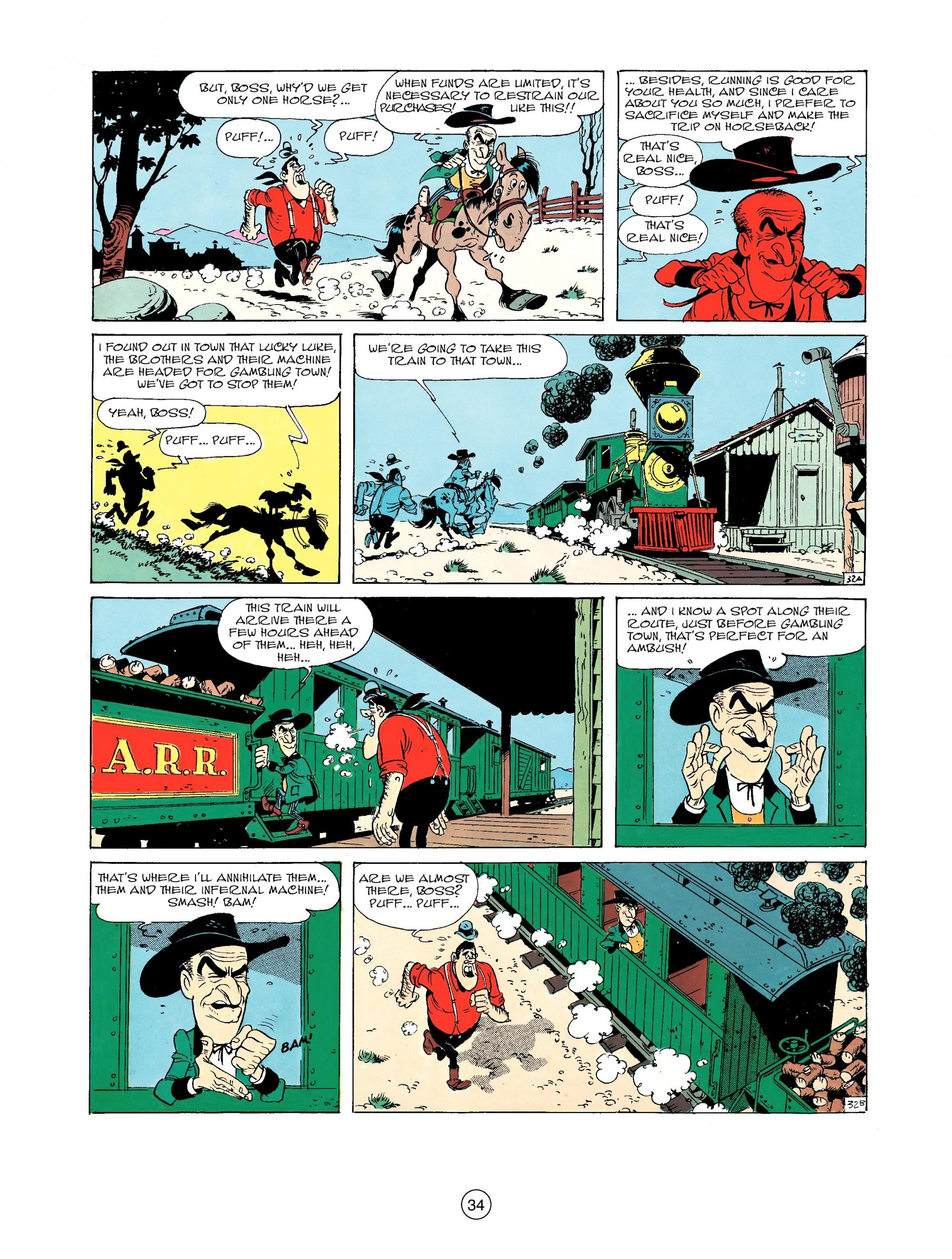 Read online A Lucky Luke Adventure comic -  Issue #33 - 34