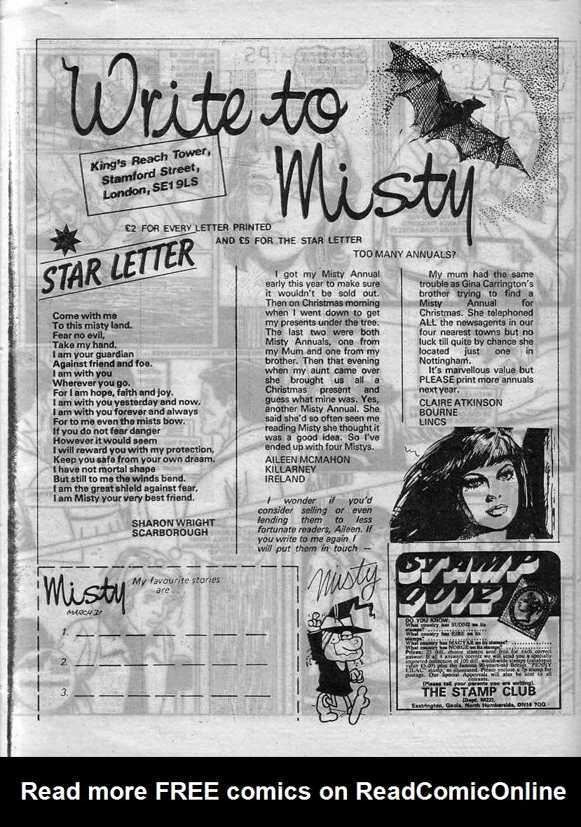 Read online Misty comic -  Issue #60 - 26