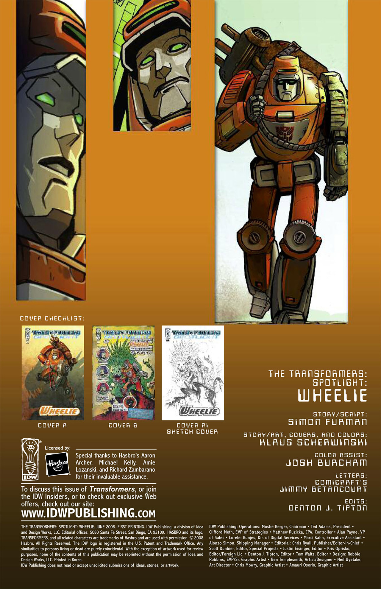 Read online Transformers Spotlight: Wheelie comic -  Issue # Full - 5
