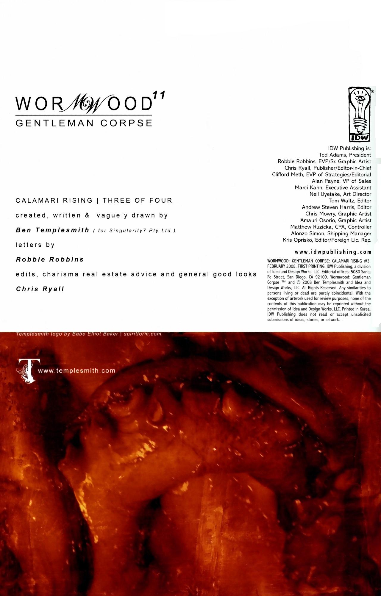 Read online Wormwood: Gentleman Corpse comic -  Issue #11 - 3