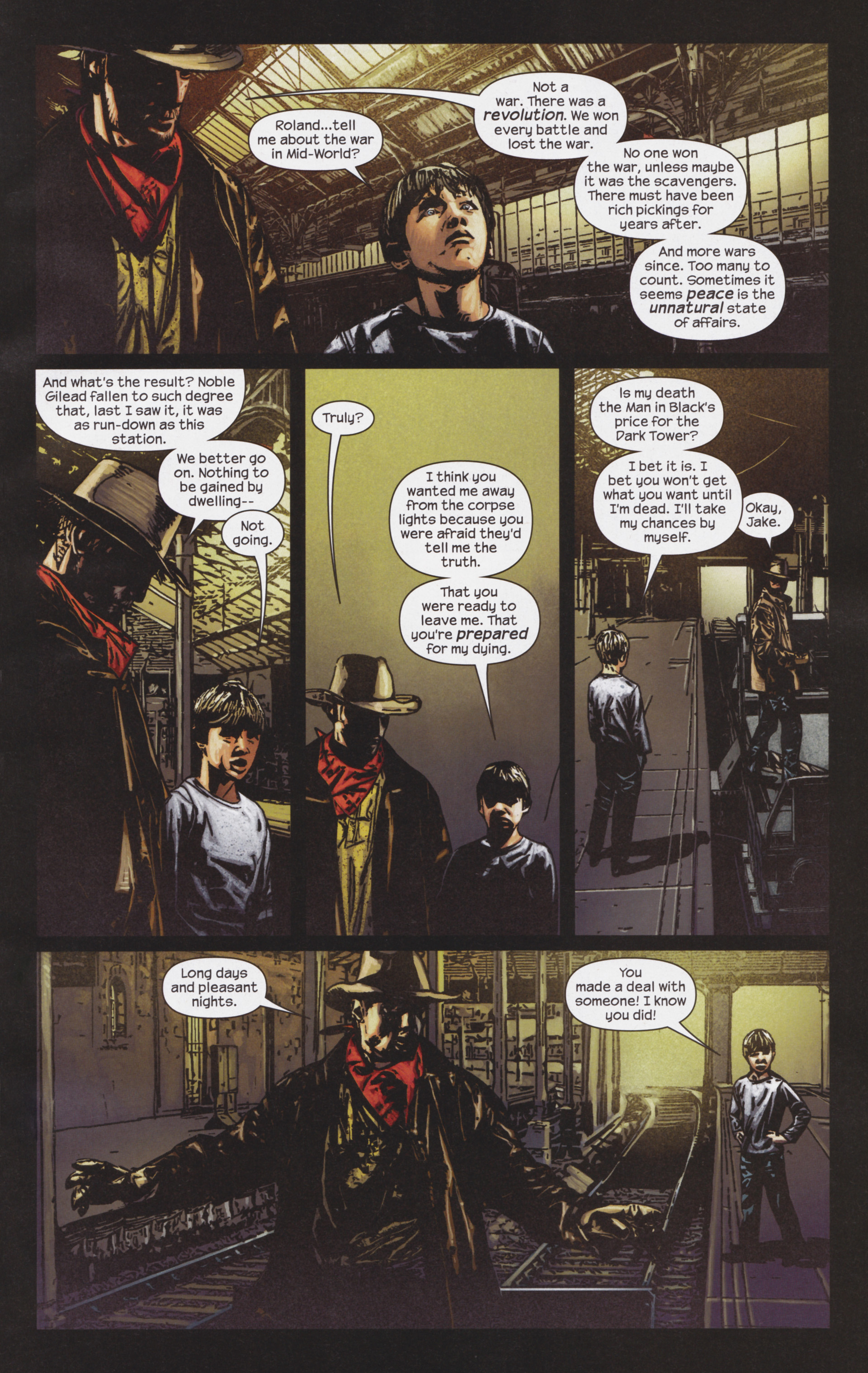 Read online Dark Tower: The Gunslinger - The Man in Black comic -  Issue #4 - 4