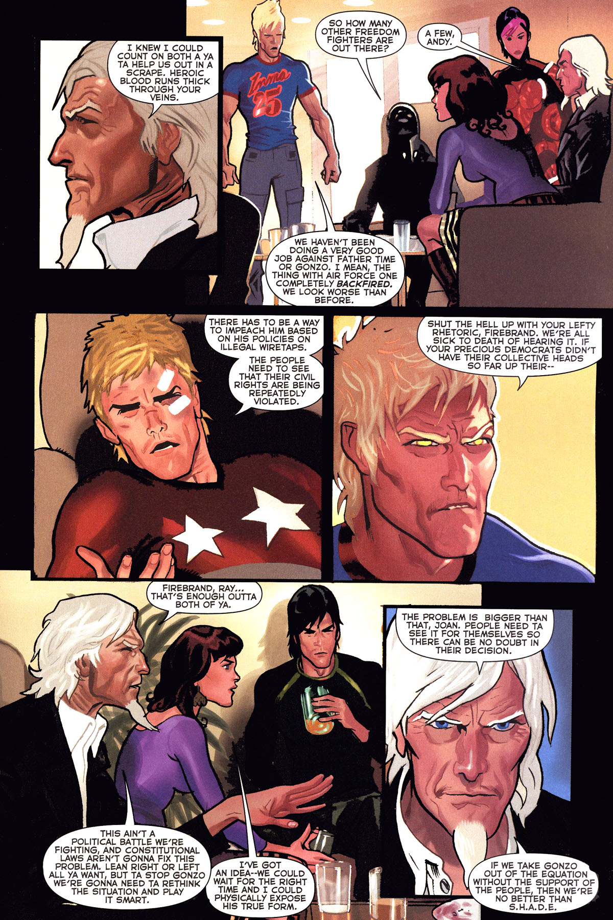 Read online Uncle Sam and the Freedom Fighters (2006) comic -  Issue #6 - 17