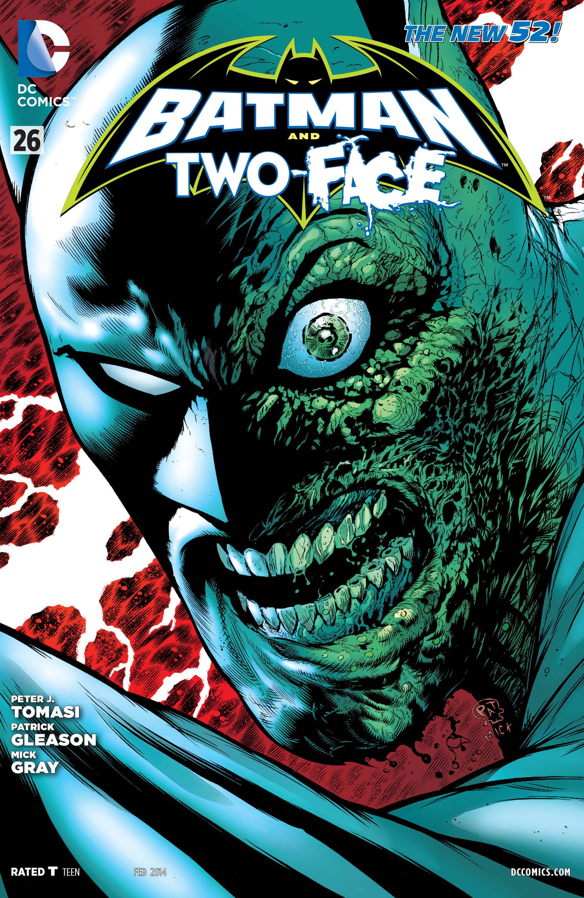 Read online Batman and Robin (2011) comic -  Issue #26 - Batman and Two-Face - 1