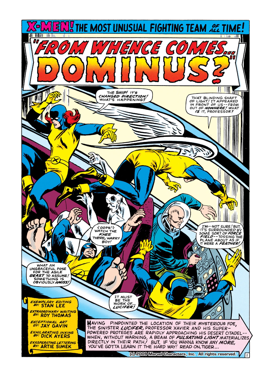 Uncanny X-Men (1963) 21 Page 1