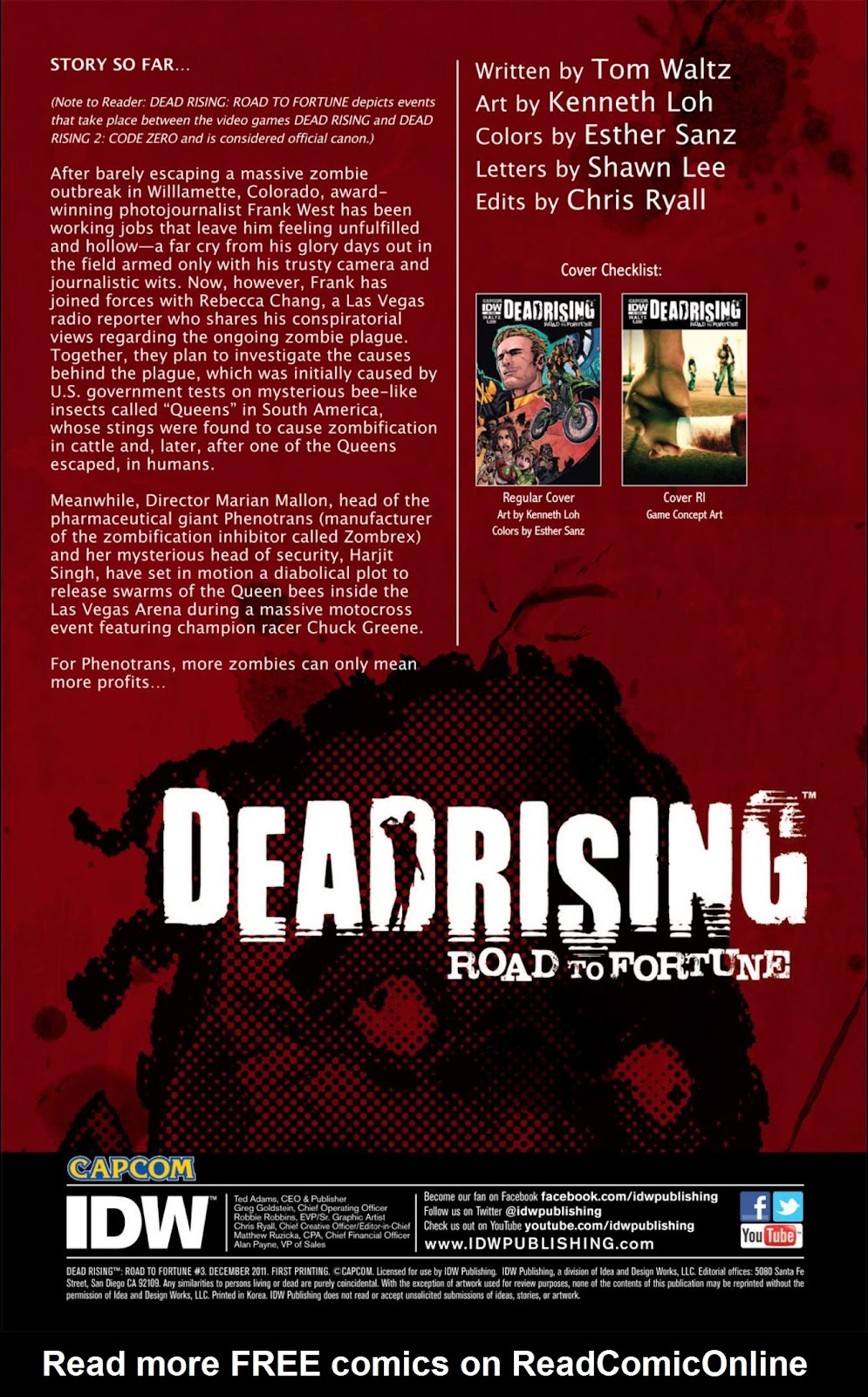 Read online Dead Rising: Road to Fortune comic -  Issue #3 - 3