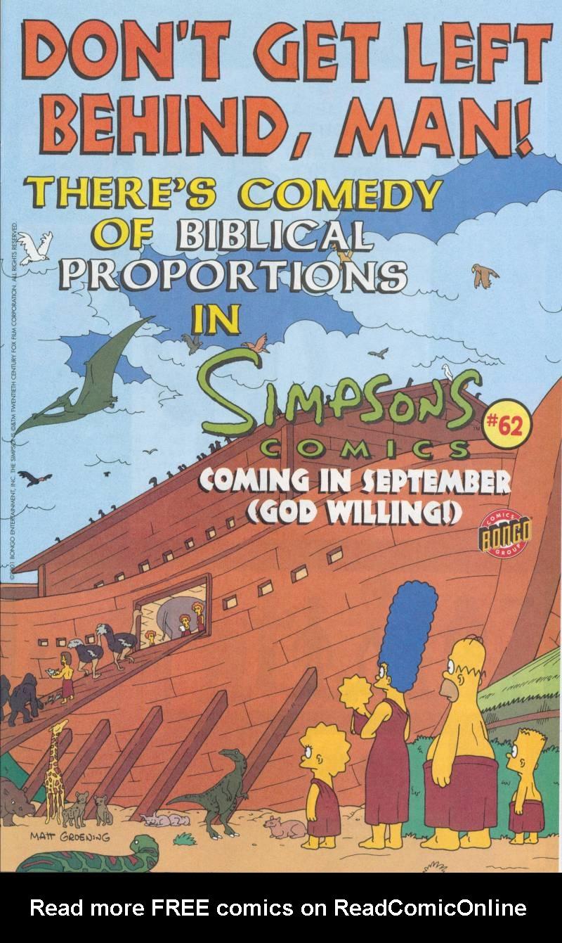 Read online Simpsons Comics comic -  Issue #61 - 24