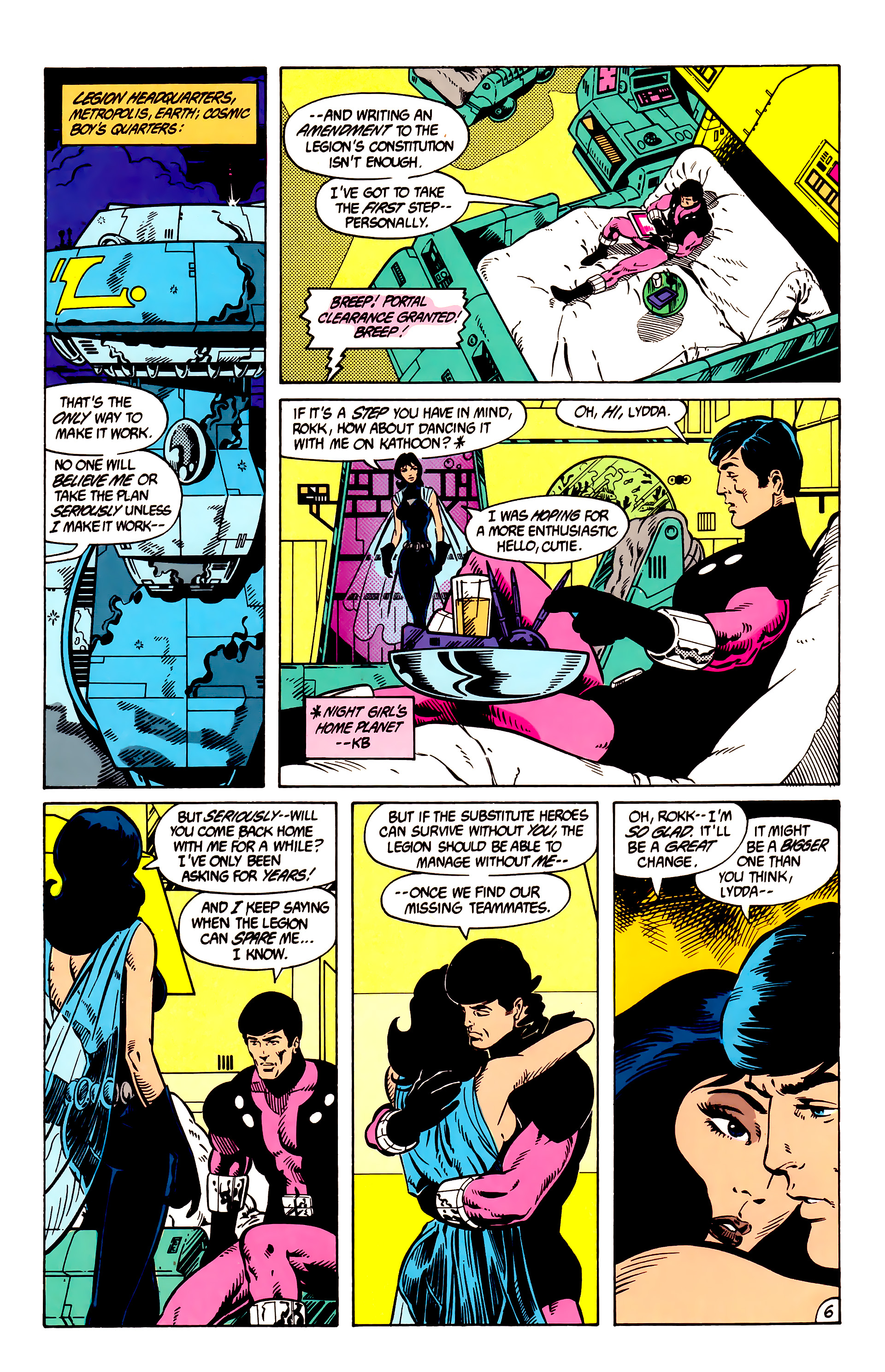 Legion of Super-Heroes (1984) 8 Page 7