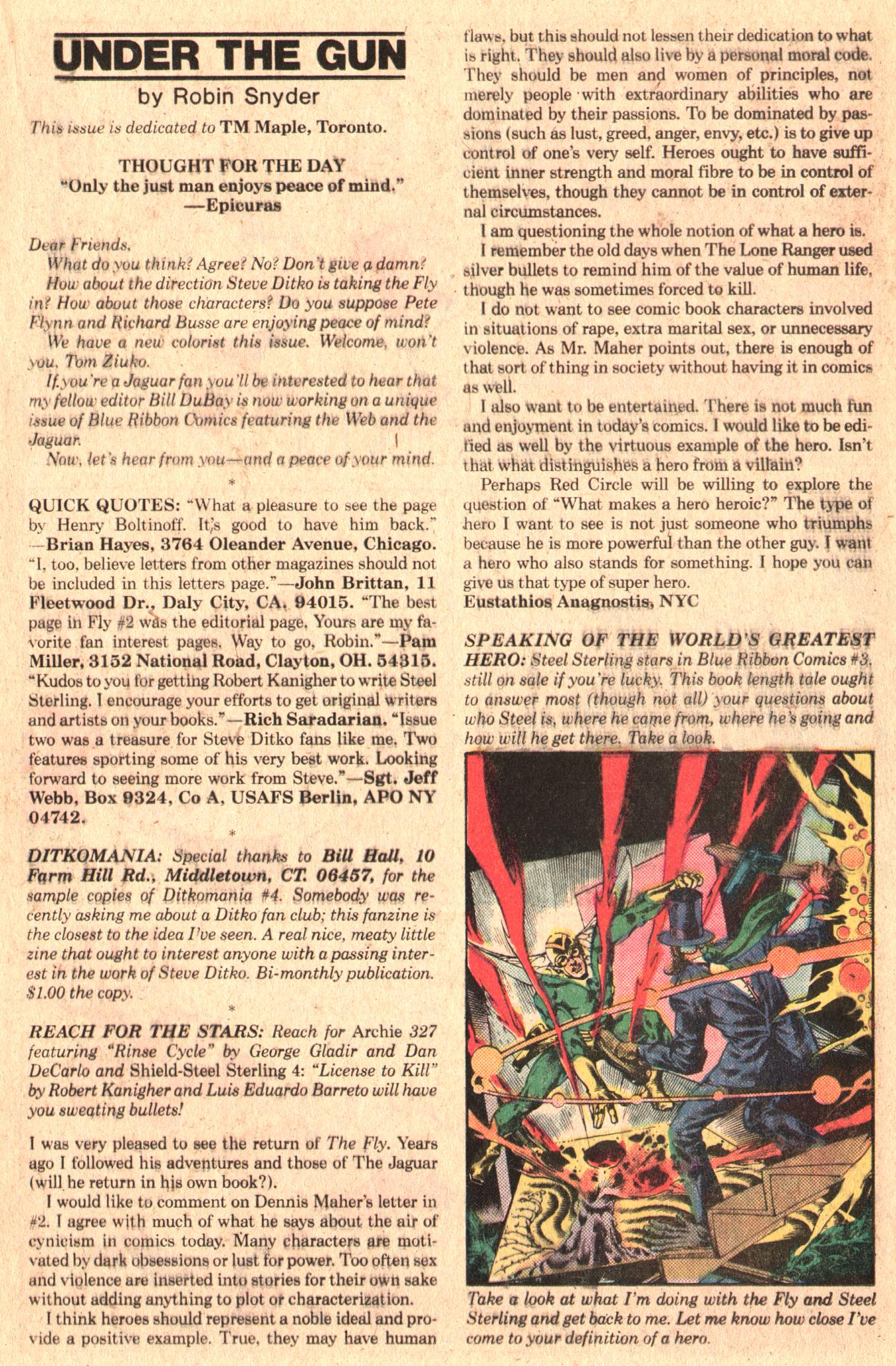 Read online The Fly (1983) comic -  Issue #5 - 21