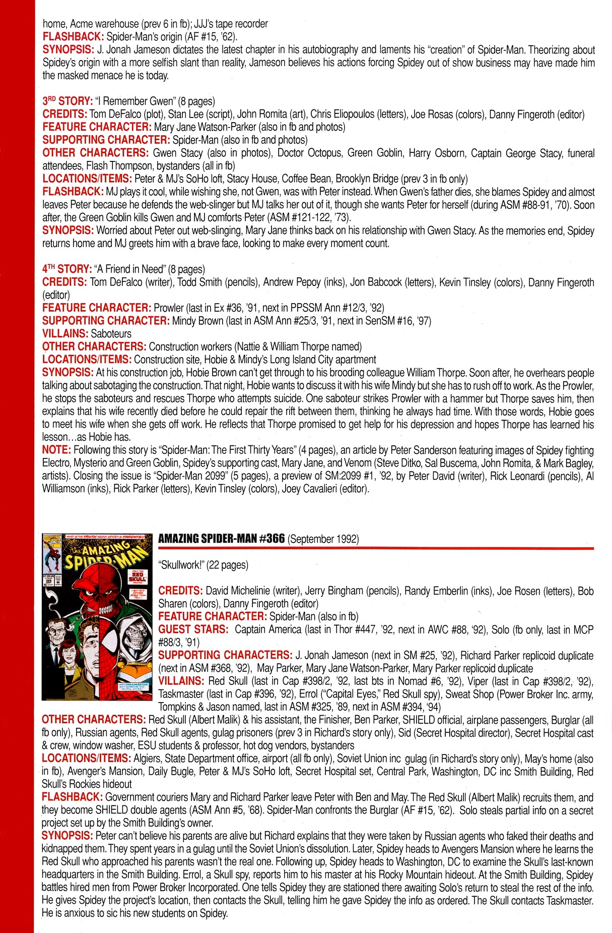 Read online Official Index to the Marvel Universe comic -  Issue #8 - 24