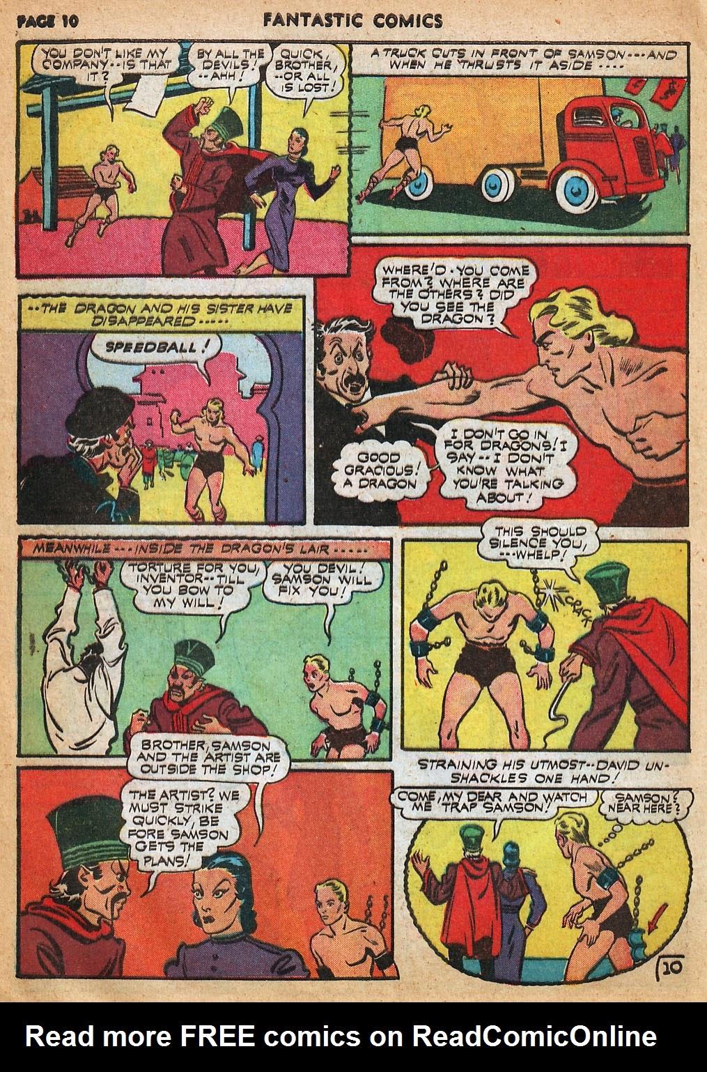 Read online Fantastic Comics comic -  Issue #22 - 12
