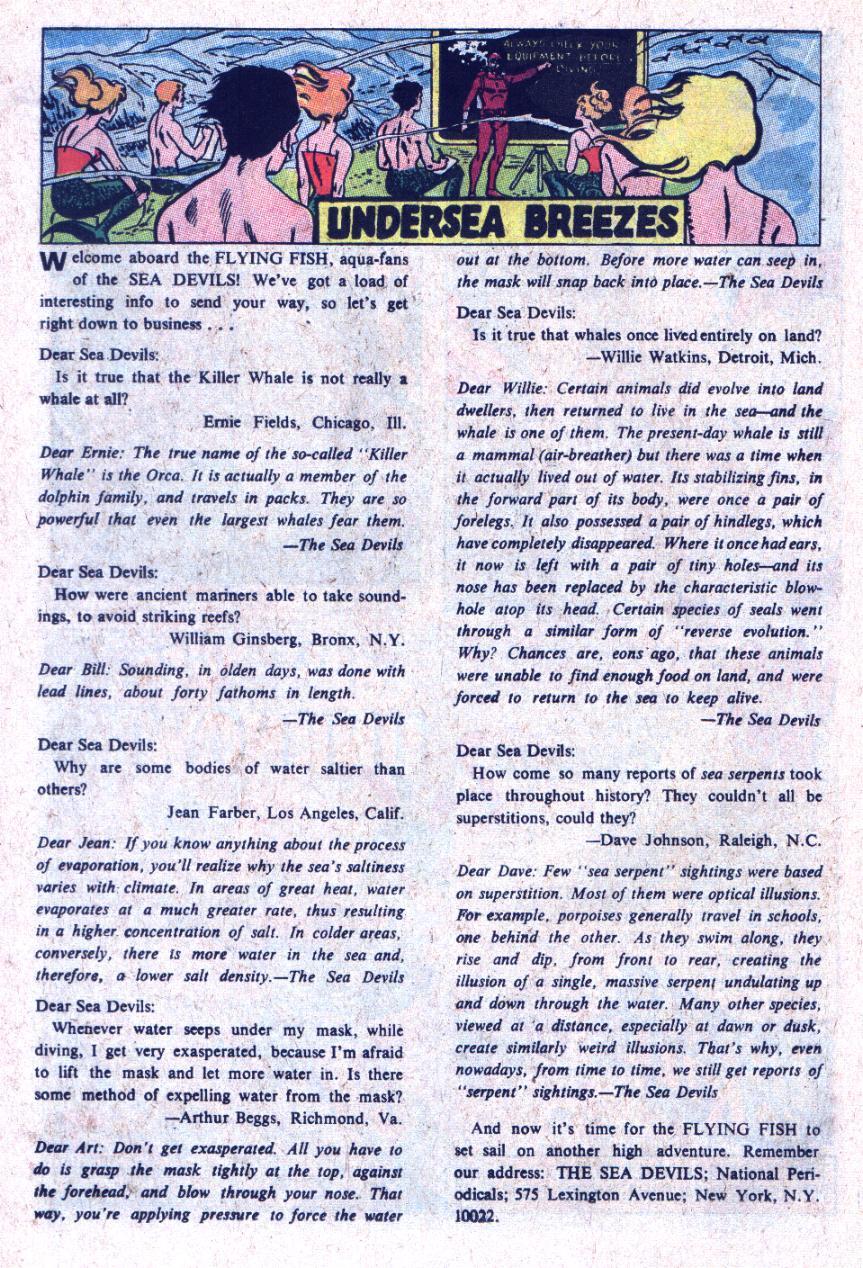 Read online Sea Devils comic -  Issue #35 - 19