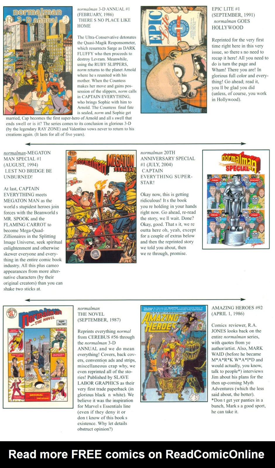 Read online Normalman 20th Anniversary Special comic -  Issue # Full - 25