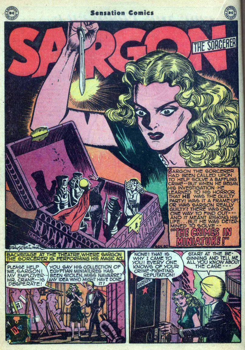 Read online Sensation (Mystery) Comics comic -  Issue #73 - 24