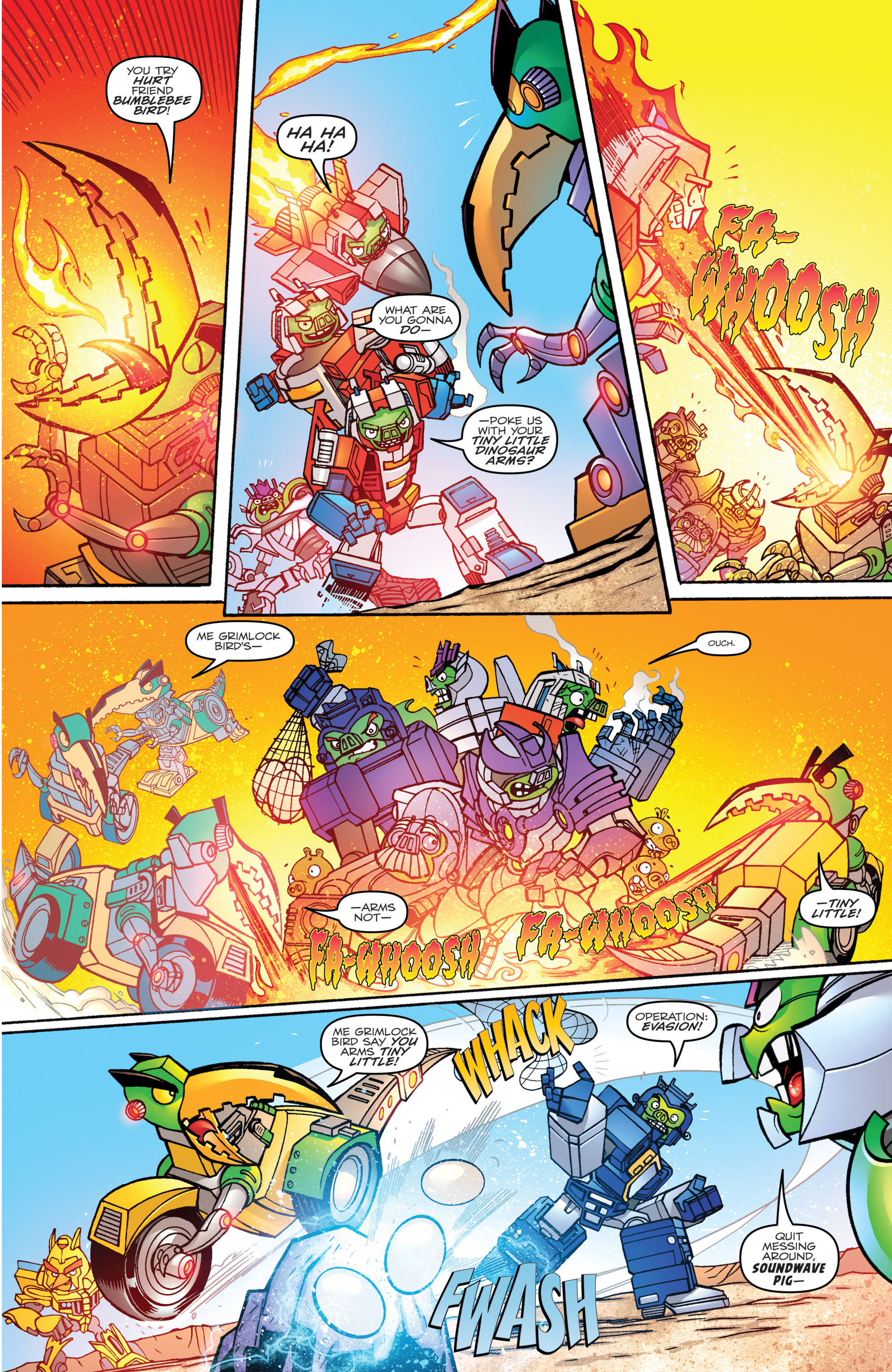 Read online Angry Birds Transformers comic -  Issue #1 - 21