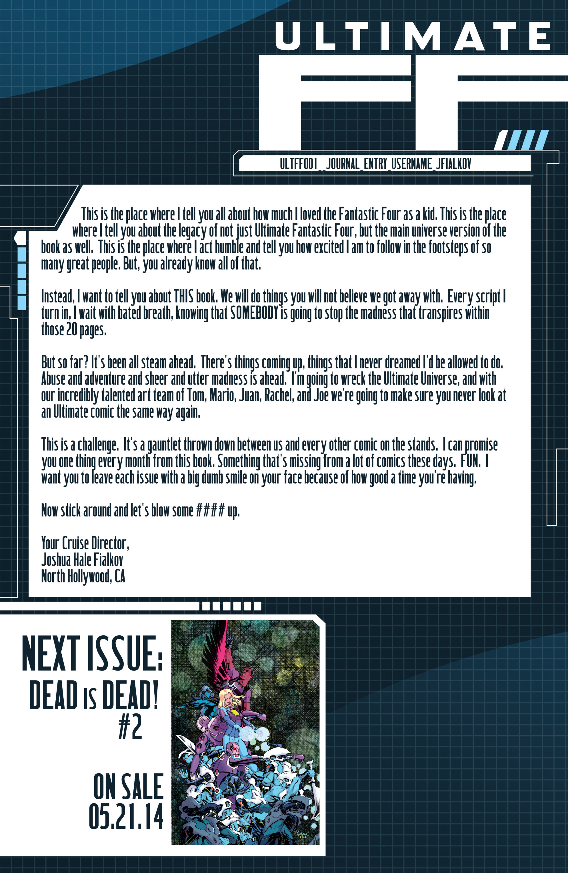 Read online Ultimate FF comic -  Issue #1 - 22