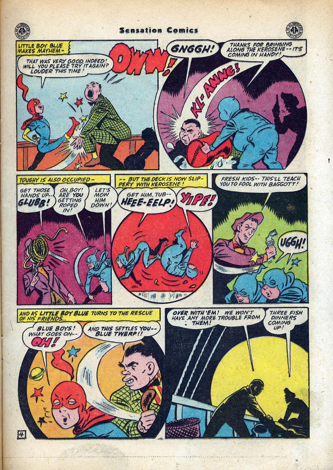 Read online Sensation (Mystery) Comics comic -  Issue #45 - 19