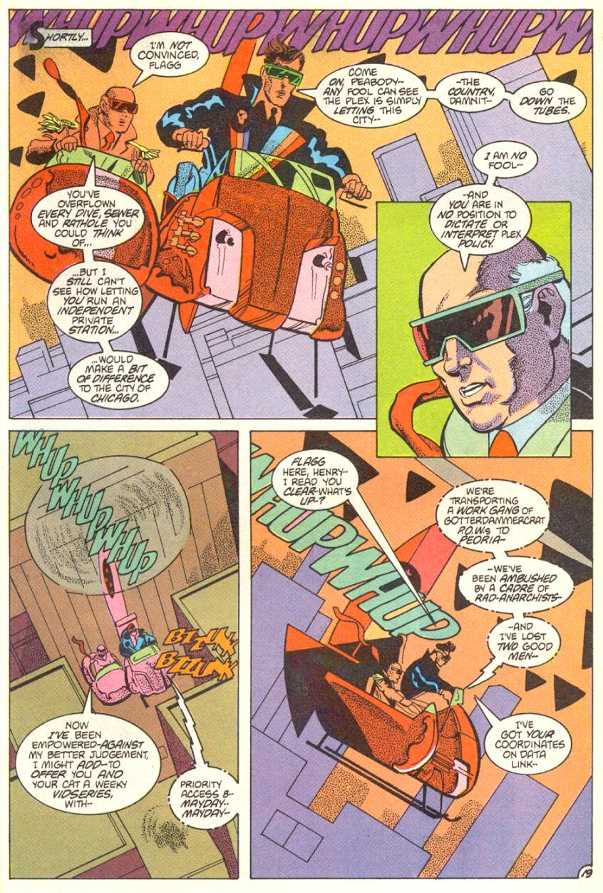 Read online American Flagg! comic -  Issue #14 - 20