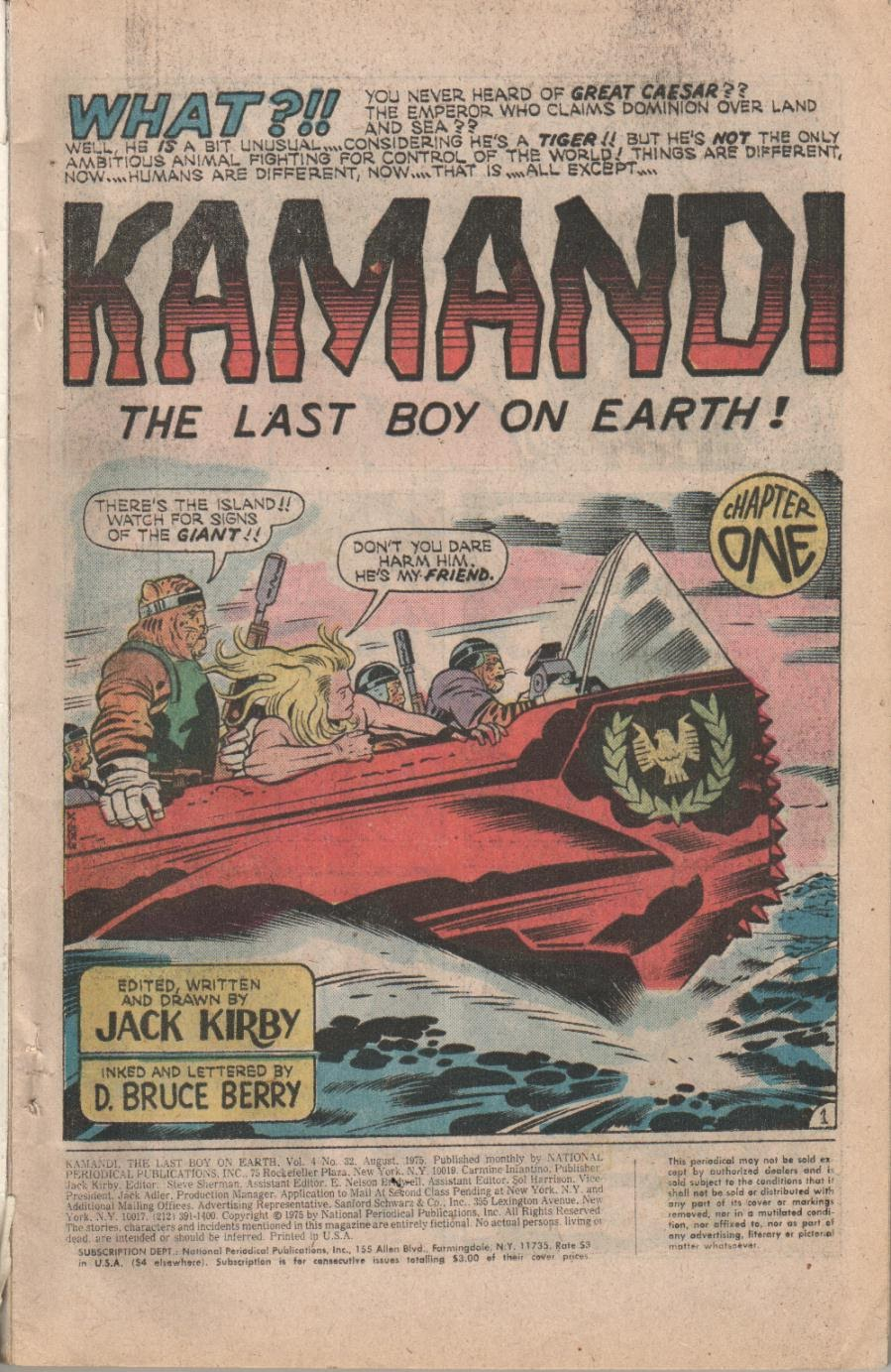 Kamandi, The Last Boy On Earth issue 32 - Page 3