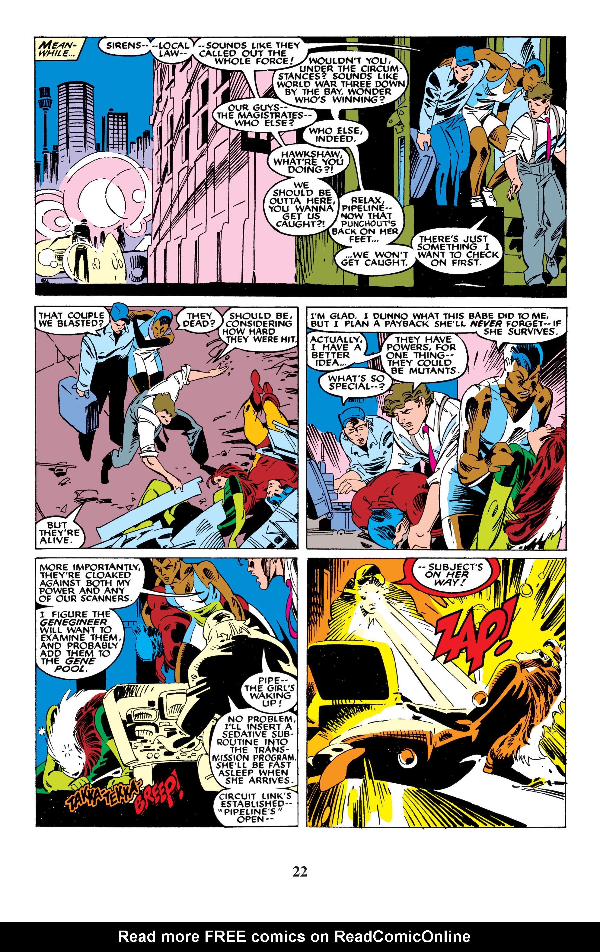 Read online Uncanny X-Men (1963) comic -  Issue #235 - 22