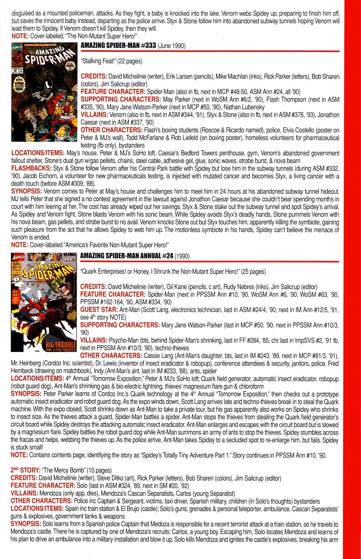 Read online Official Index to the Marvel Universe comic -  Issue #8 - 5