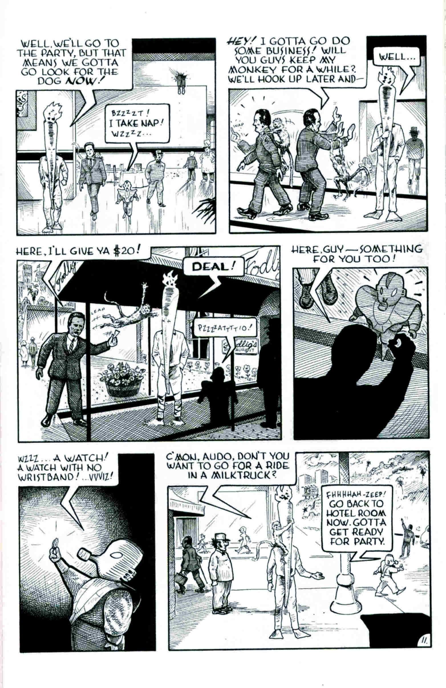 Read online Flaming Carrot & Reid Fleming, World's Toughest Milkman comic -  Issue # Full - 11