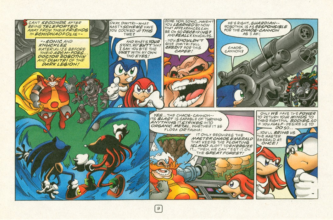Read online Sonic Super Special comic -  Issue #12 - Sonic and Knuckles visa versa - 12