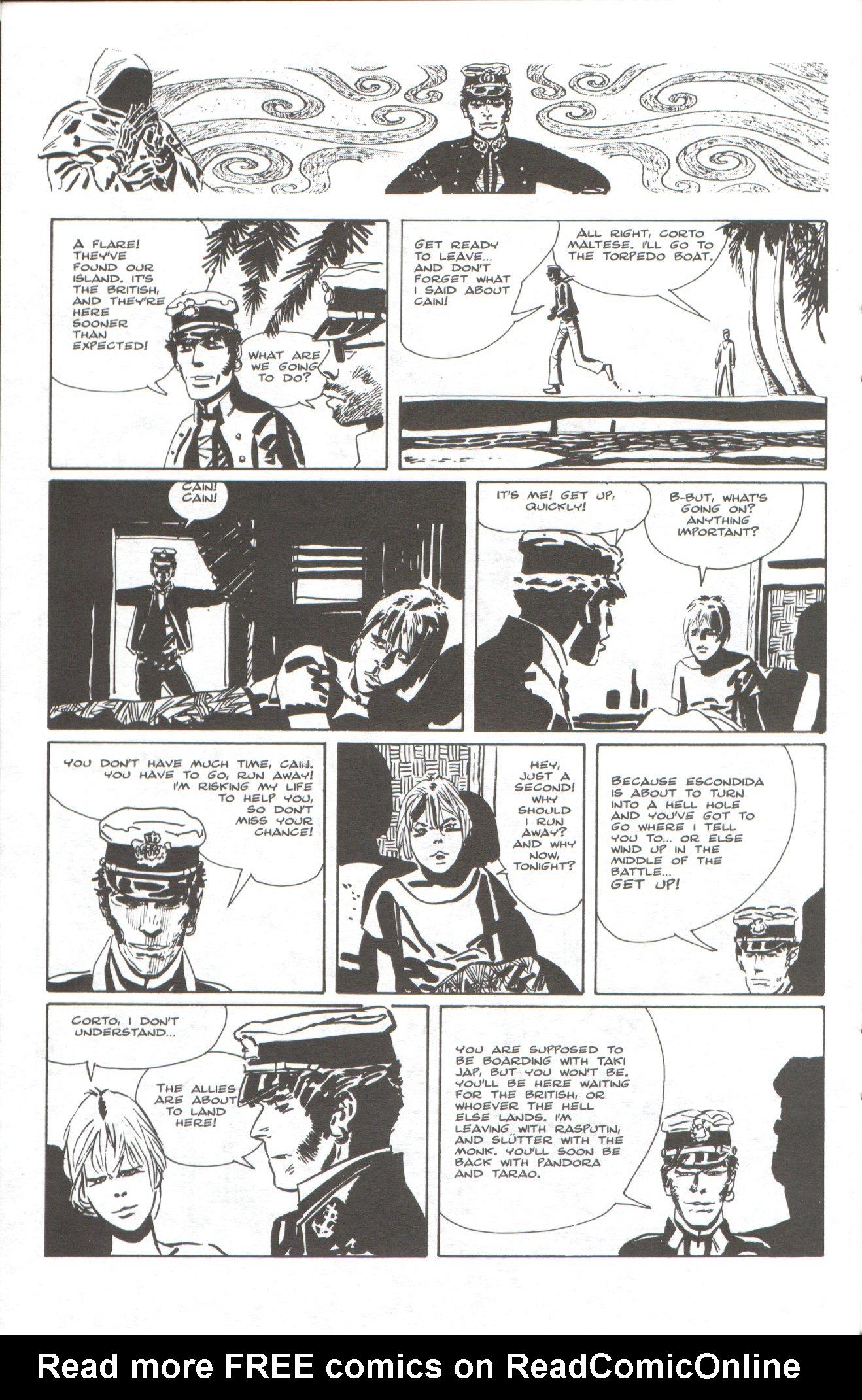 Read online Corto Maltese: Ballad of the Salt Sea comic -  Issue #6 - 18