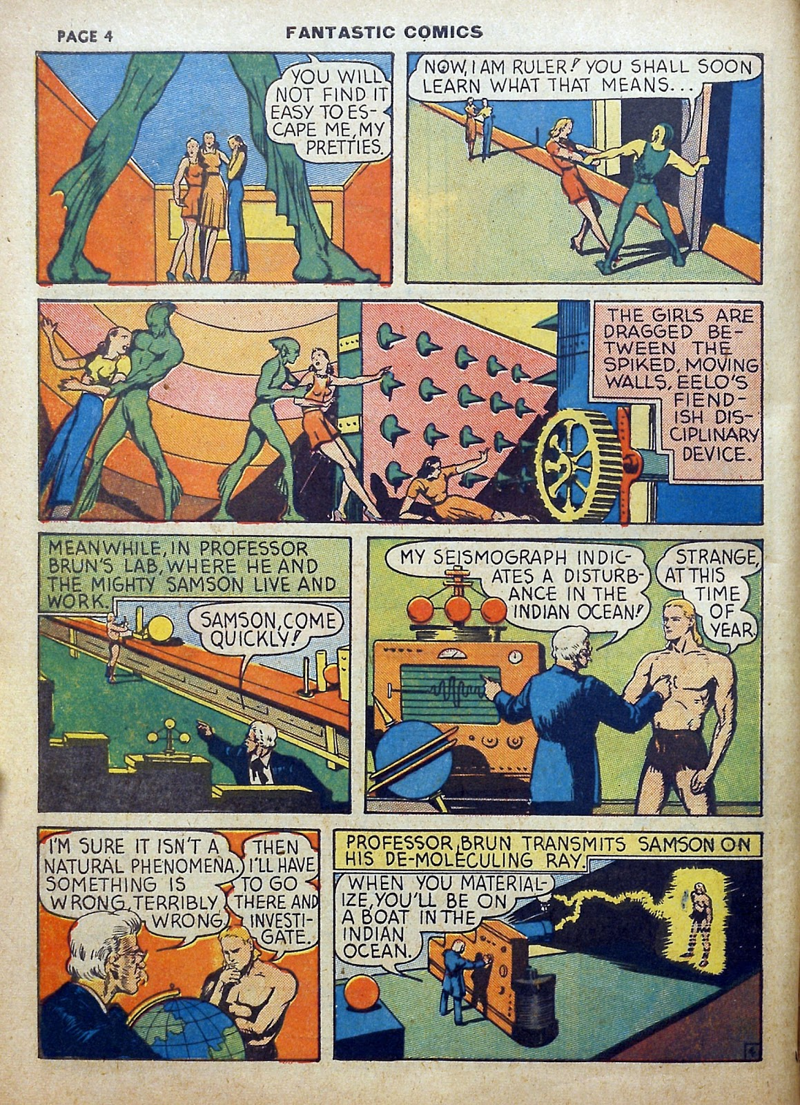 Read online Fantastic Comics comic -  Issue #5 - 5