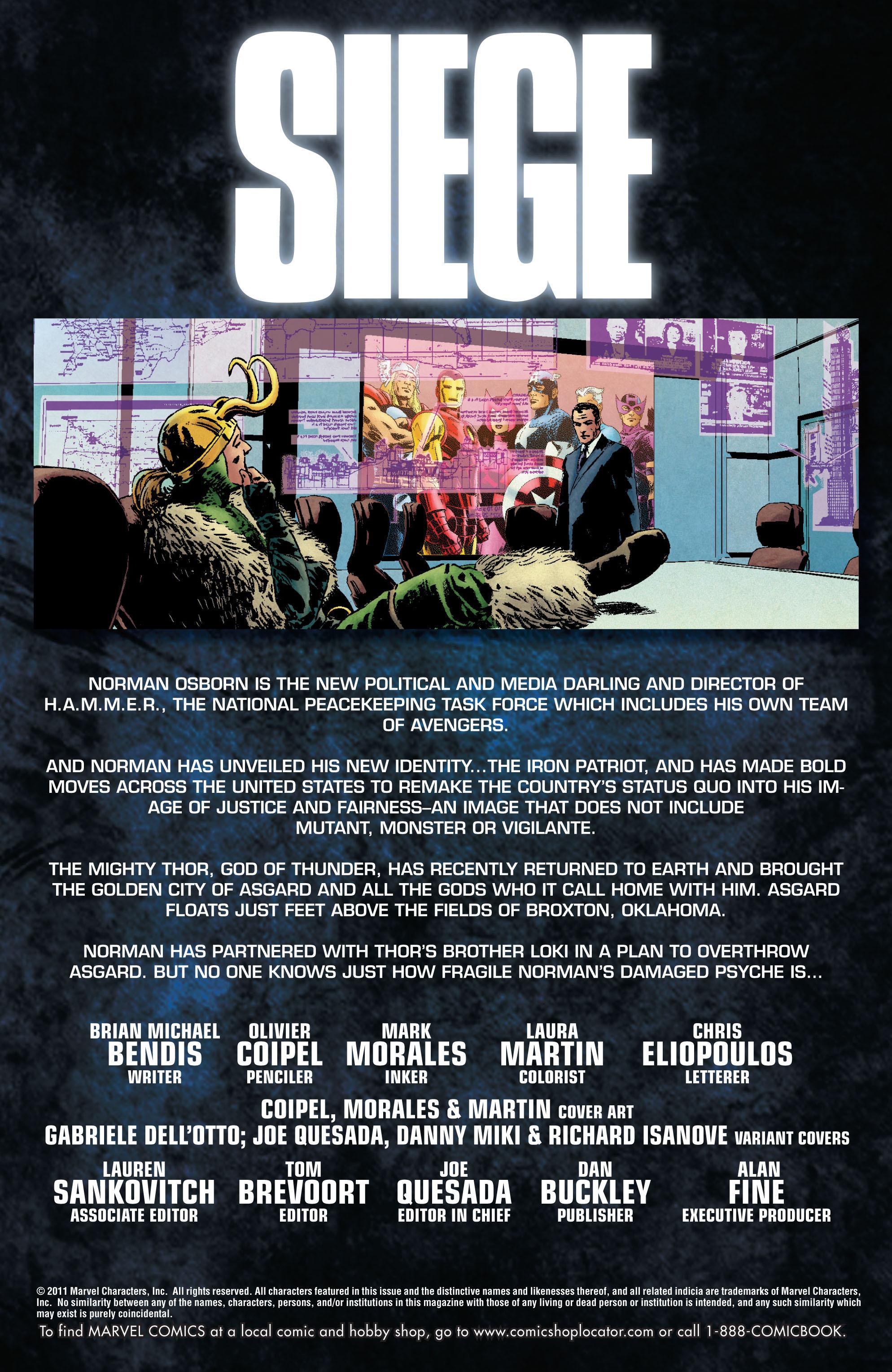 Read online Siege (2010) comic -  Issue #1 - 2