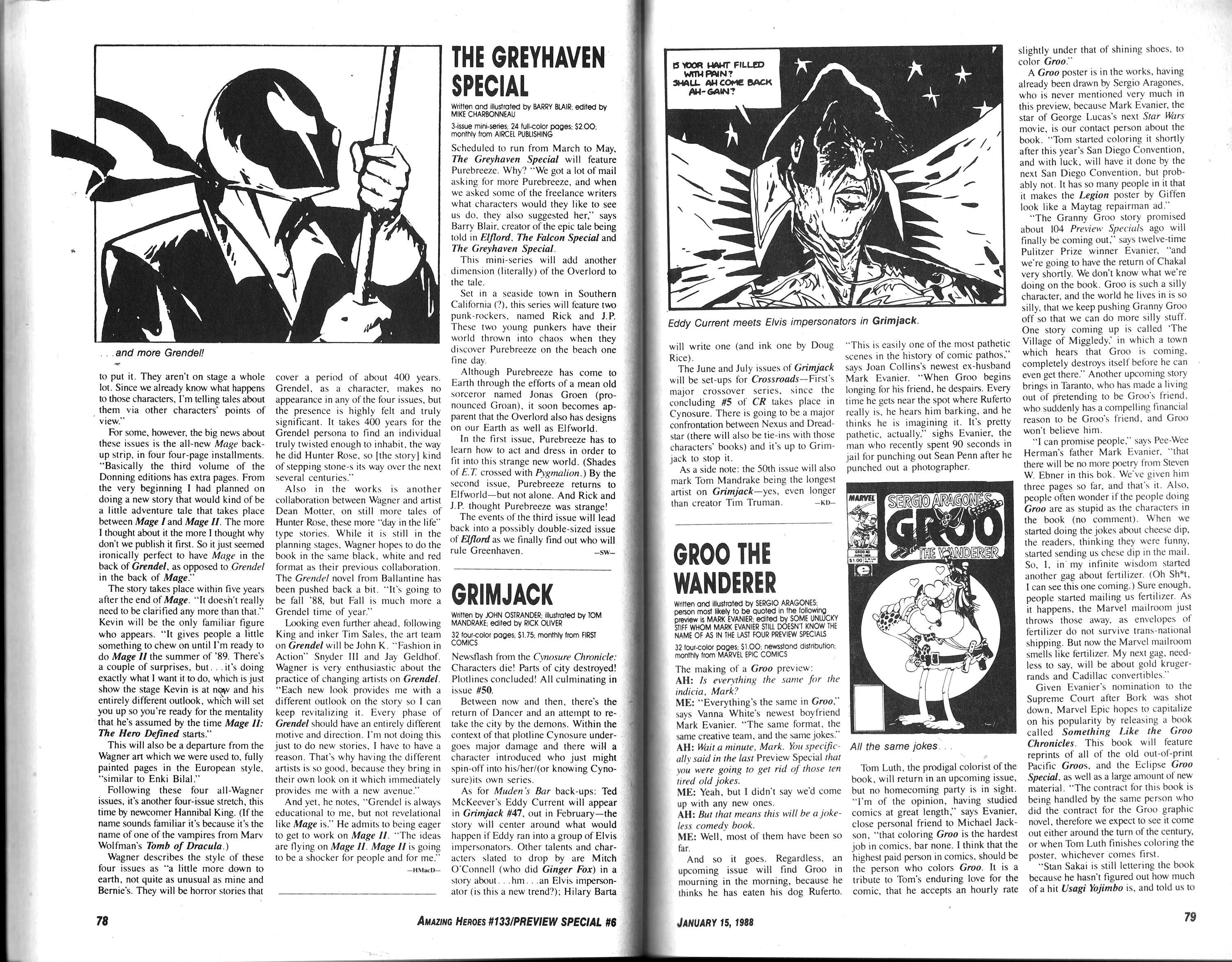 Read online Amazing Heroes comic -  Issue #133 - 41