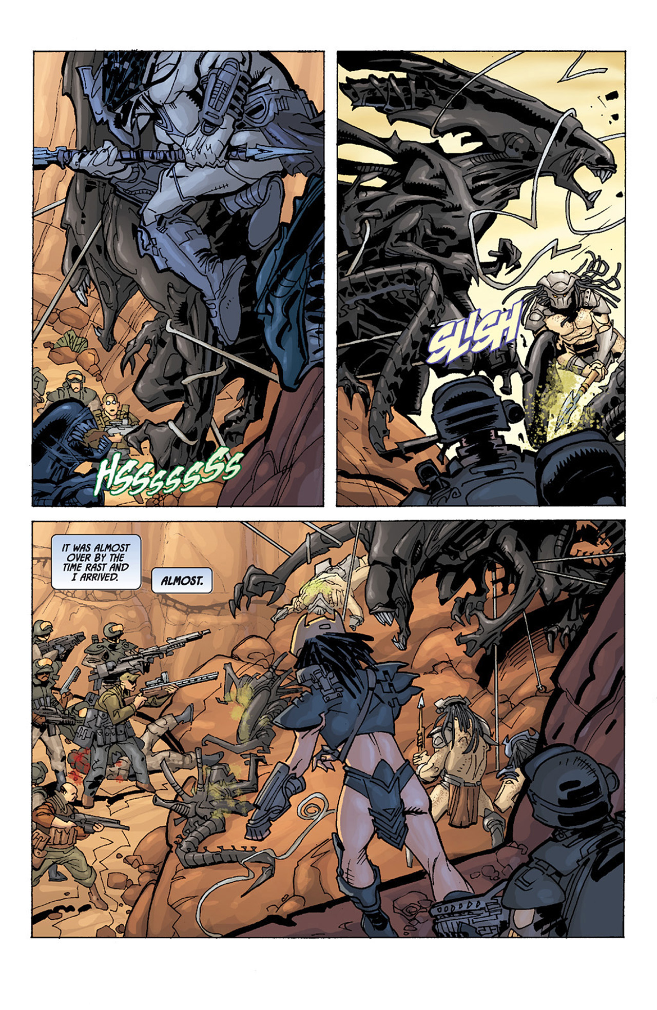 Read online Aliens vs. Predator: Three World War comic -  Issue #3 - 17