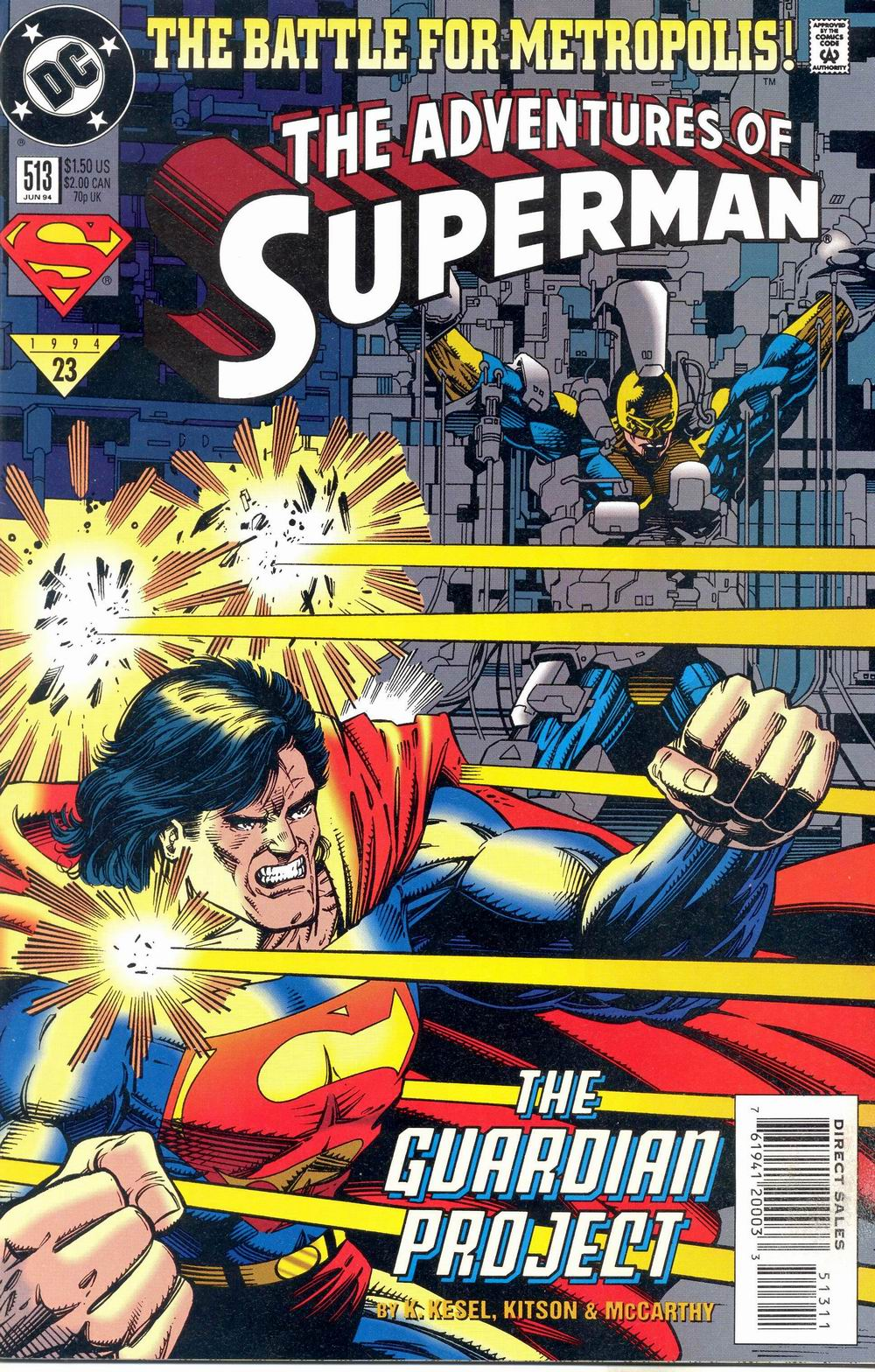 Read online Adventures of Superman (1987) comic -  Issue #513 - 1
