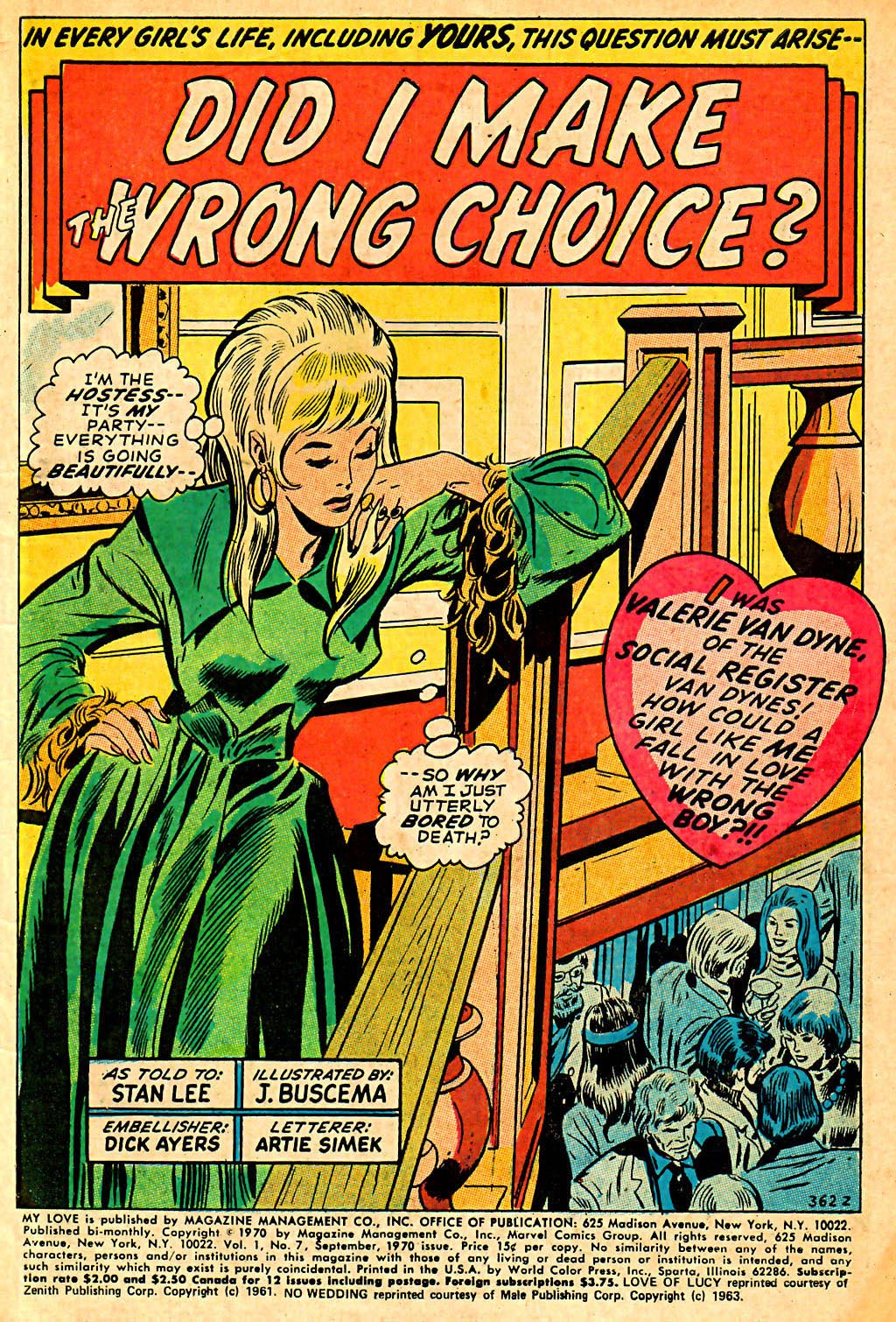 My Love (1969) issue 7 - Page 3