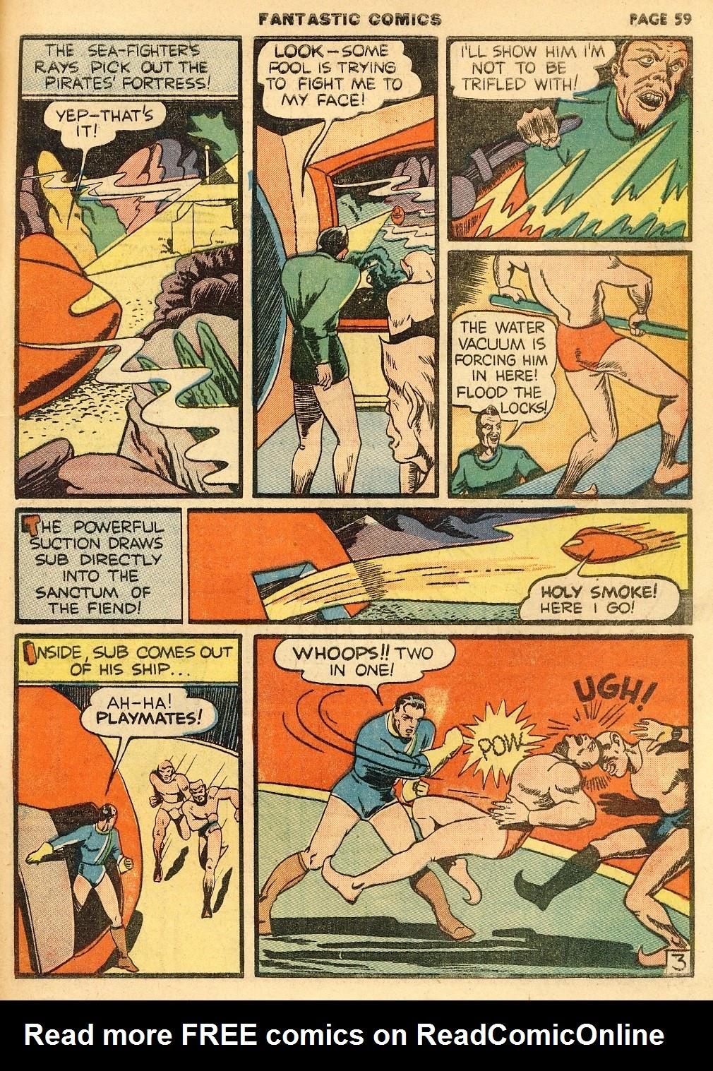 Read online Fantastic Comics comic -  Issue #10 - 60