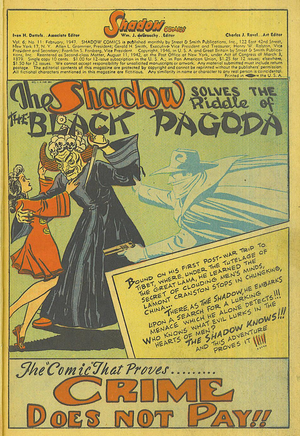 Read online Shadow Comics comic -  Issue #71 - 3