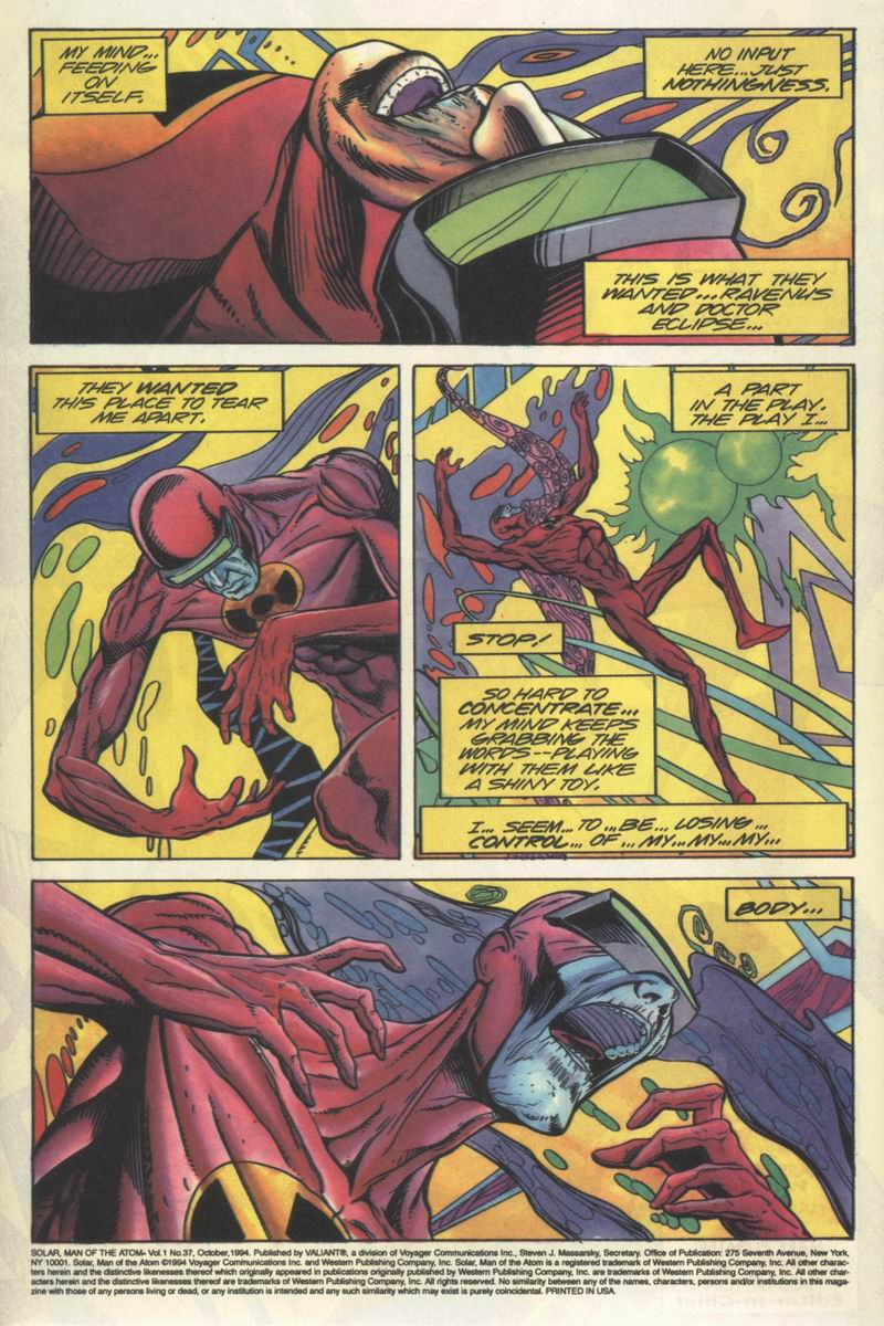 Read online Solar, Man of the Atom comic -  Issue #37 - 3