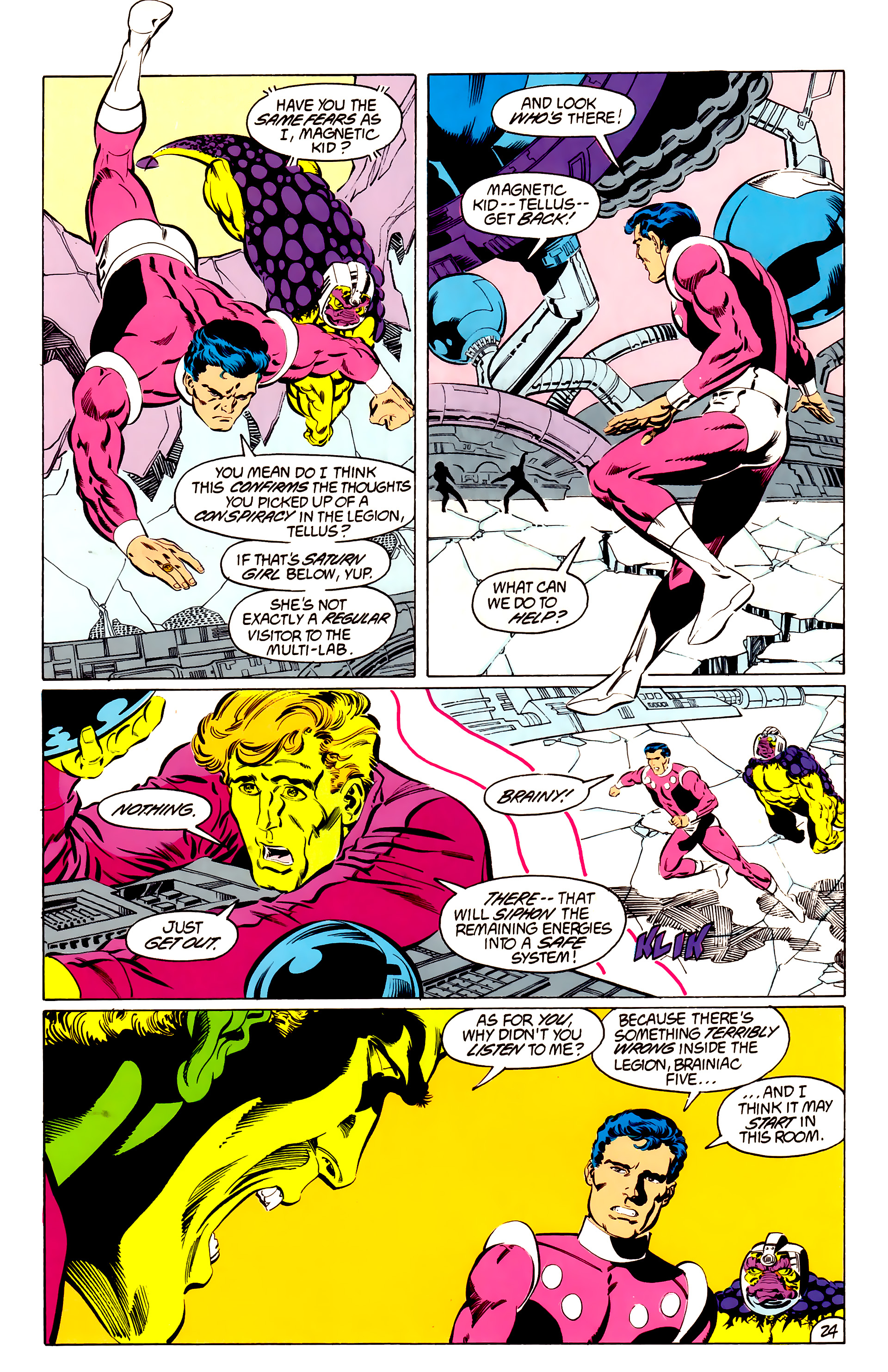 Legion of Super-Heroes (1984) 48 Page 24