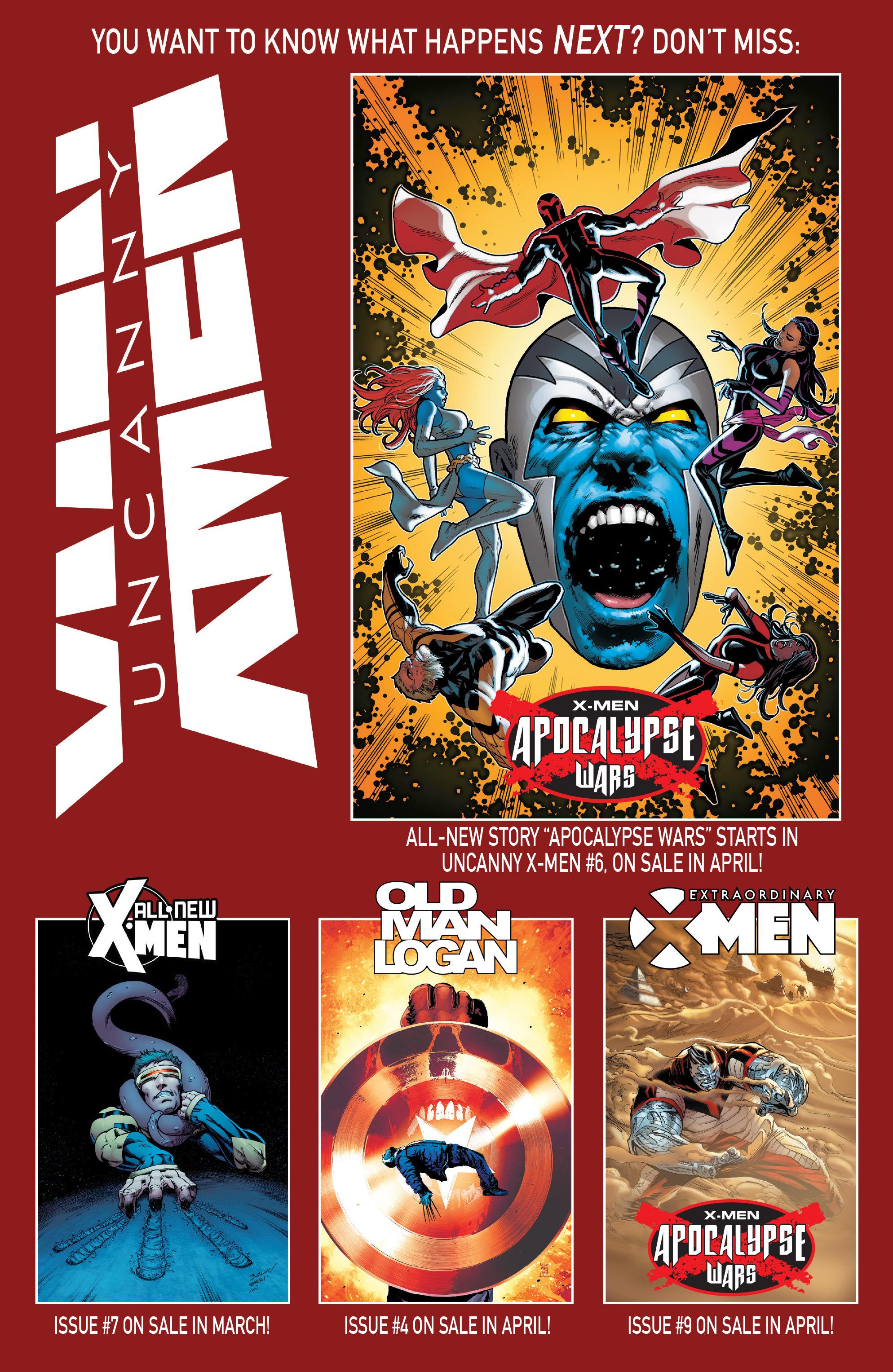 Read online Uncanny X-Men (2016) comic -  Issue #5 - 22