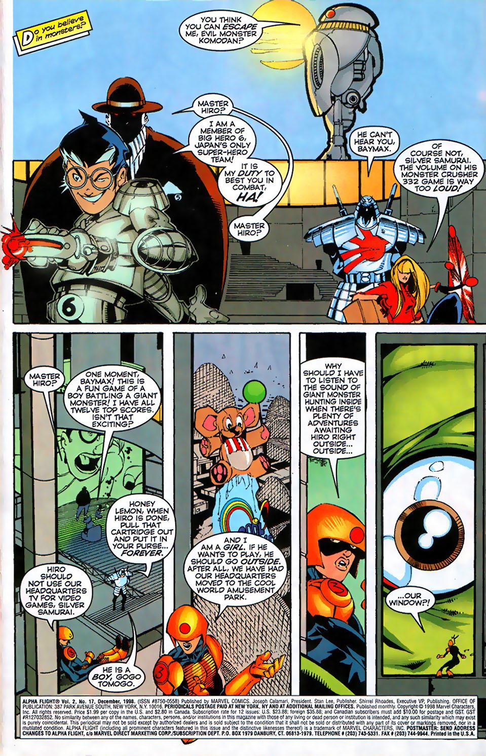 Read online Alpha Flight (1997) comic -  Issue #17 - 3