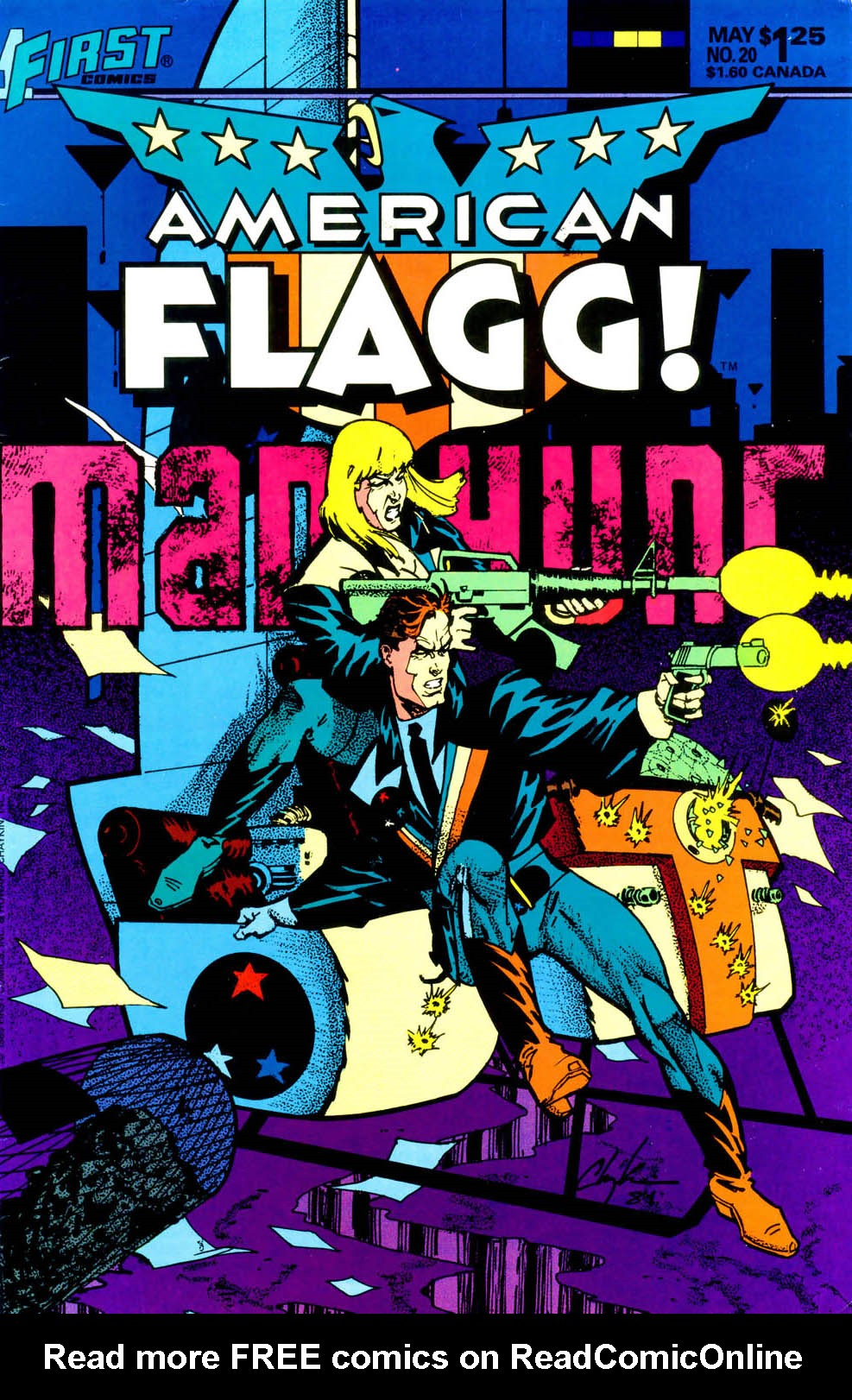 Read online American Flagg! comic -  Issue #20 - 1