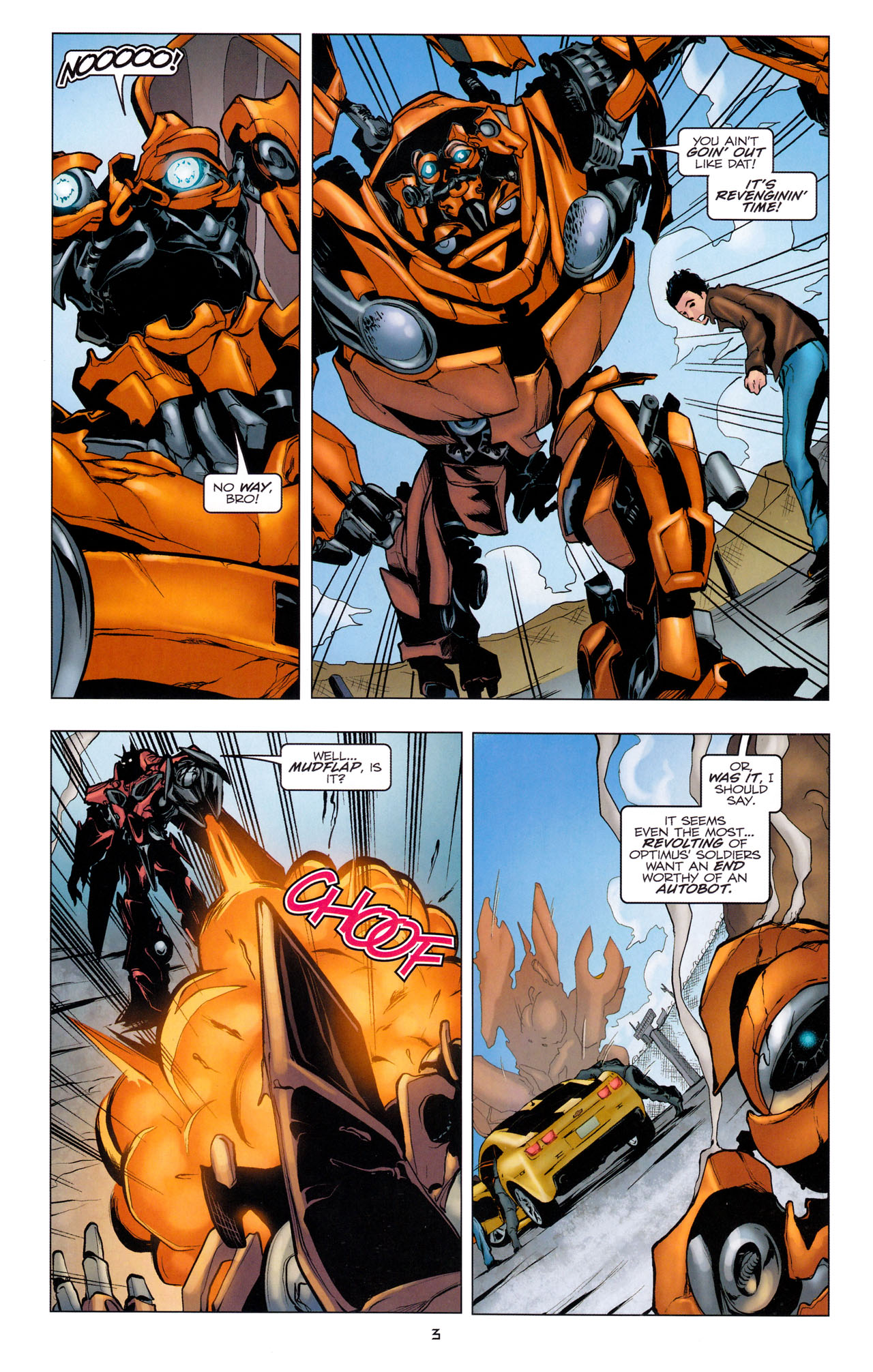 Read online Transformers: Dark of the Moon Movie Adaptation comic -  Issue #3 - 5
