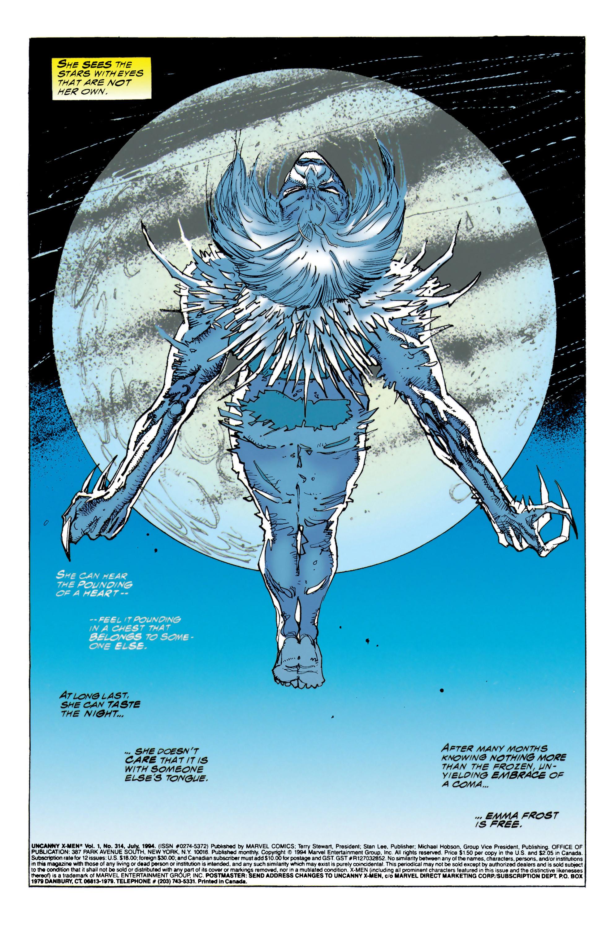 Read online Uncanny X-Men (1963) comic -  Issue #314 - 2